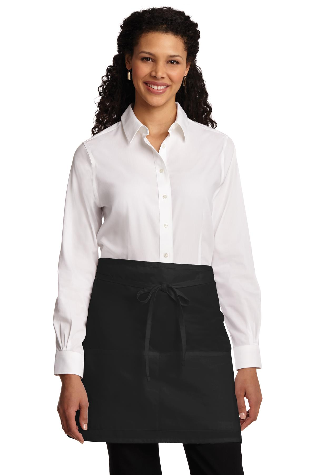 Port Authority ®  Easy Care Half Bistro Apron with Stain Release. A706 - Black