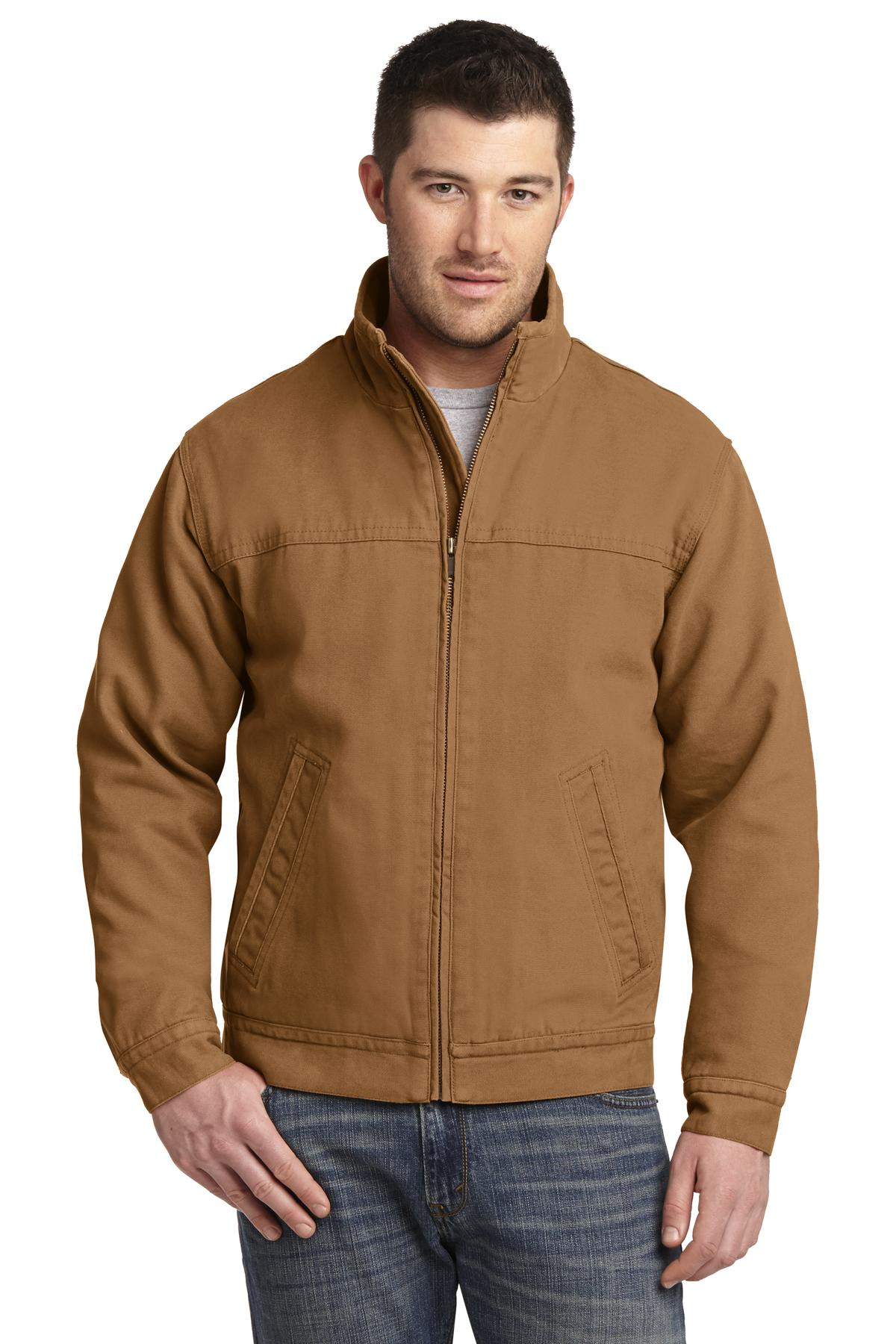 CornerStone ®  Washed Duck Cloth Flannel-Lined Work Jacket. CSJ40 - Duck Brown