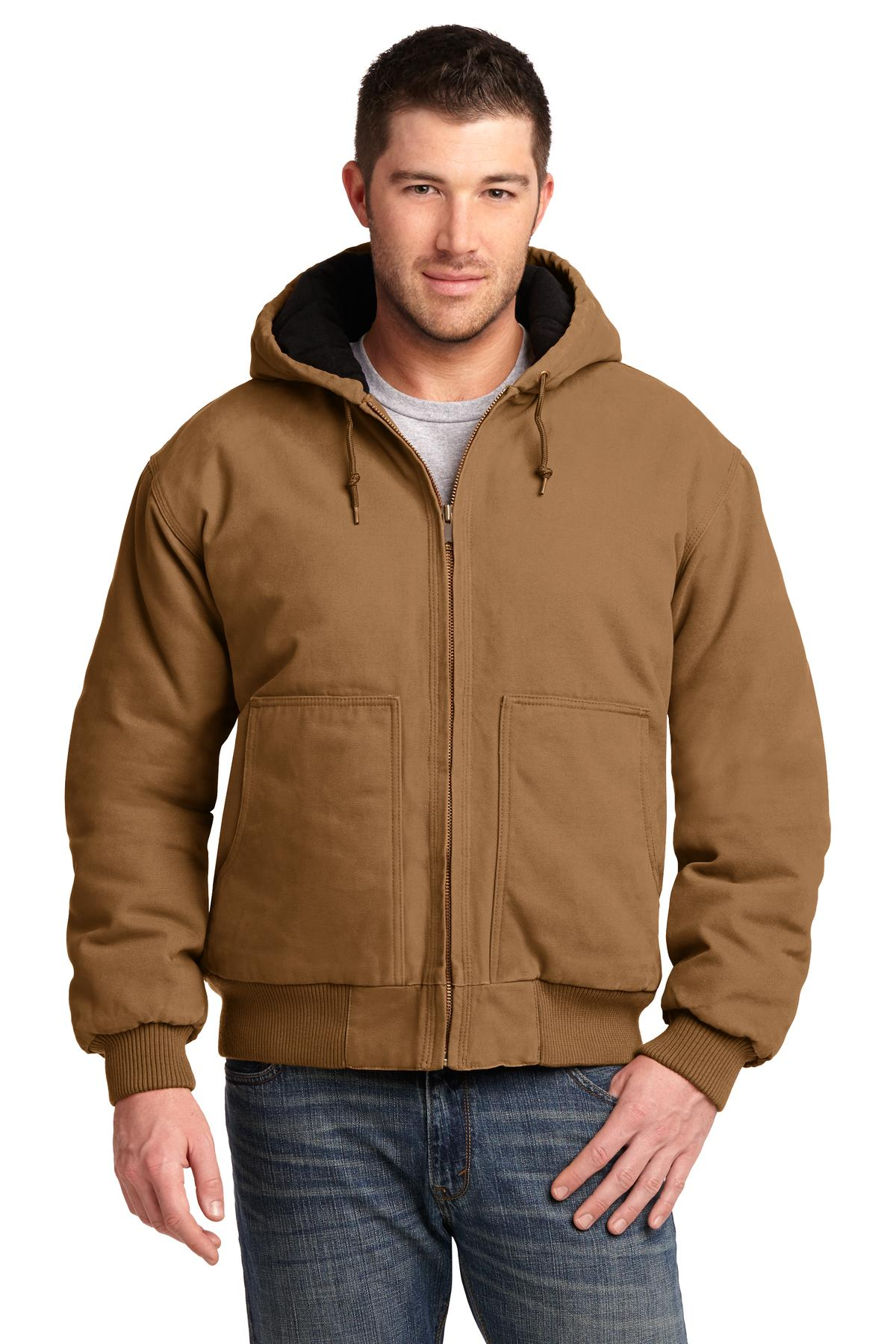 CornerStone ®  Washed Duck Cloth Insulated Hooded Work Jacket. CSJ41 - Duck Brown