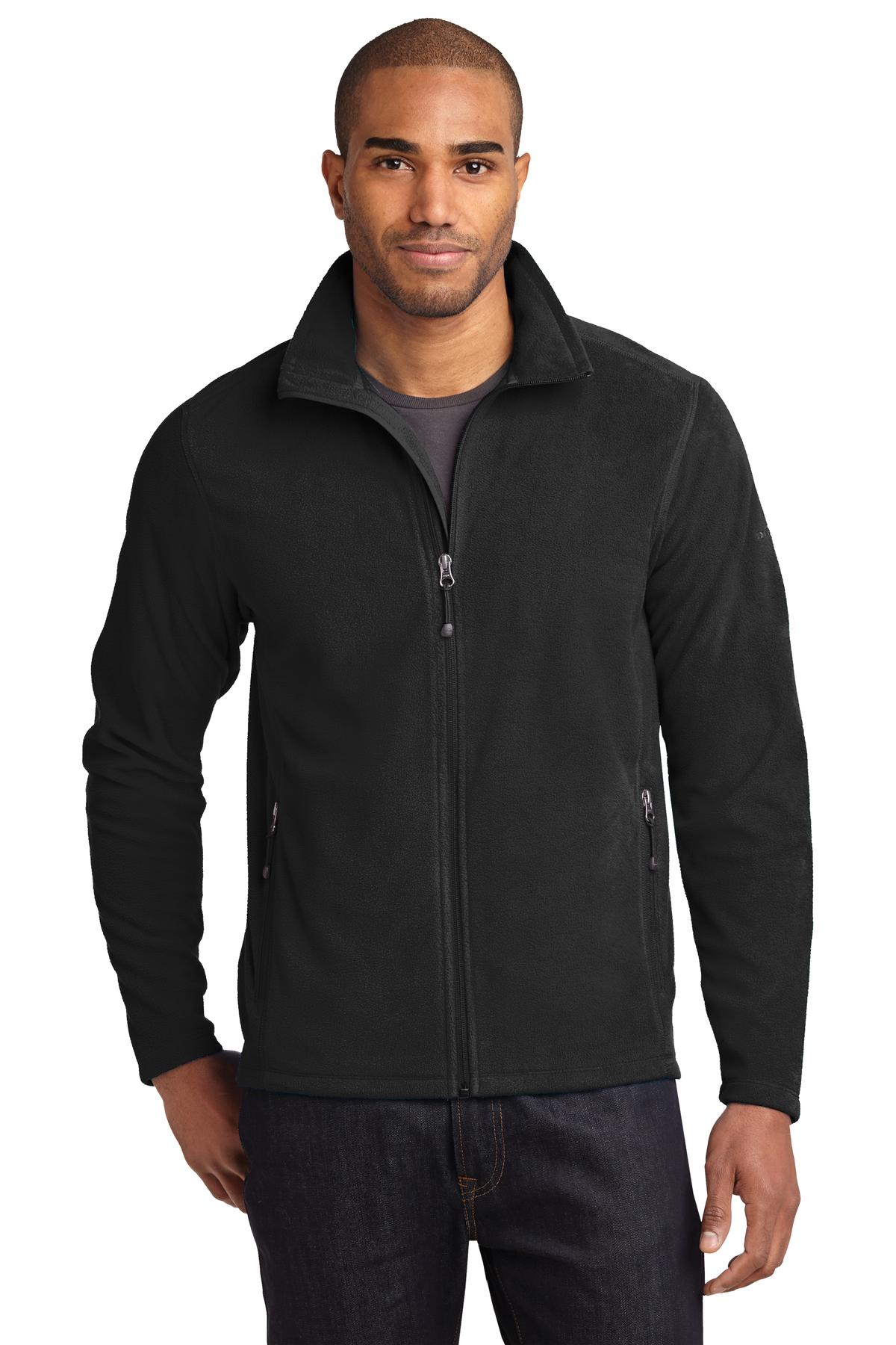 Eddie Bauer ®  Full-Zip Microfleece Jacket. EB224 - Black