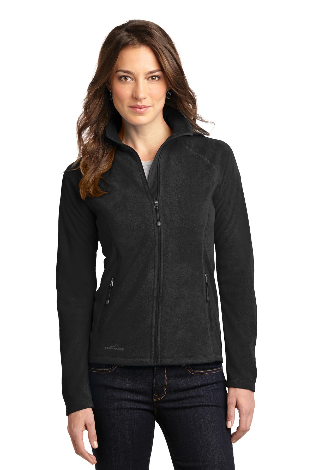 Eddie Bauer ®  Ladies Full-Zip Microfleece Jacket. EB225 - Black