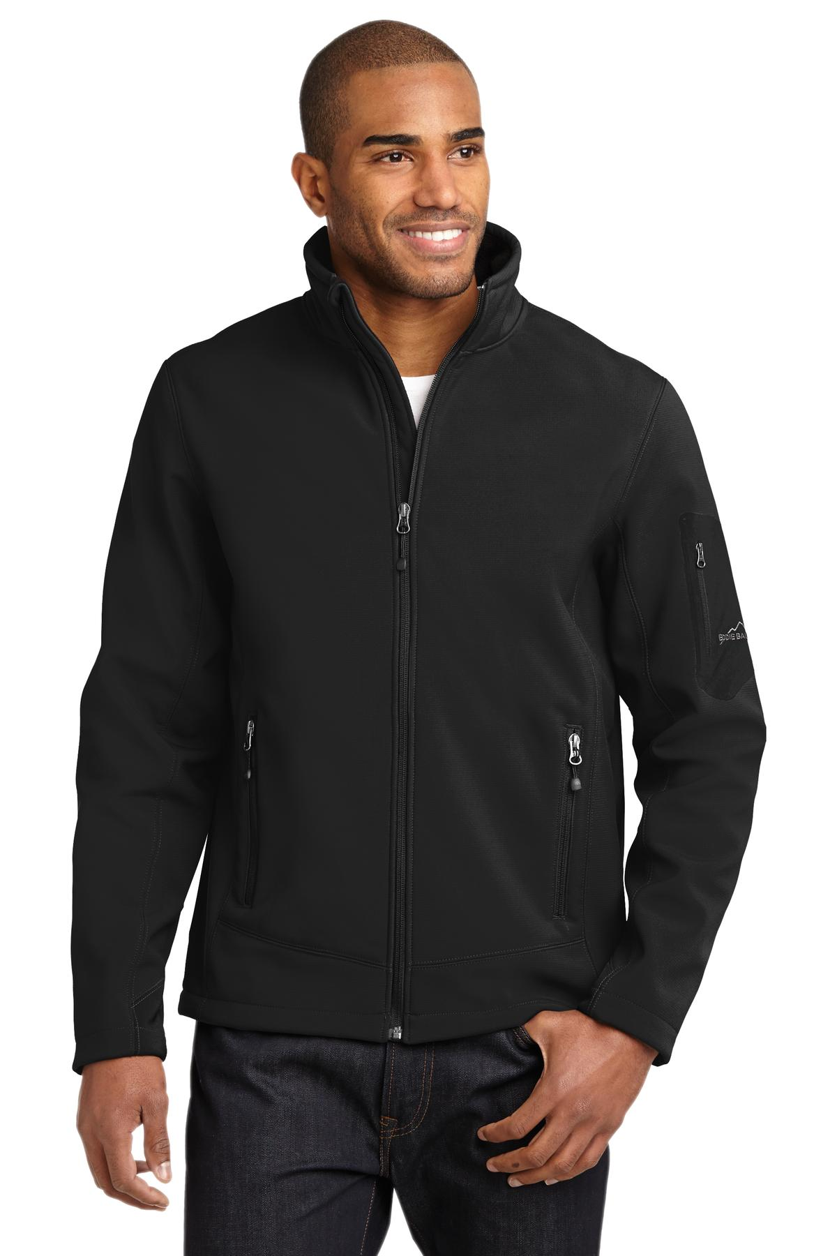 Eddie Bauer ®  Rugged Ripstop Soft Shell Jacket. EB534 - Black/ Black