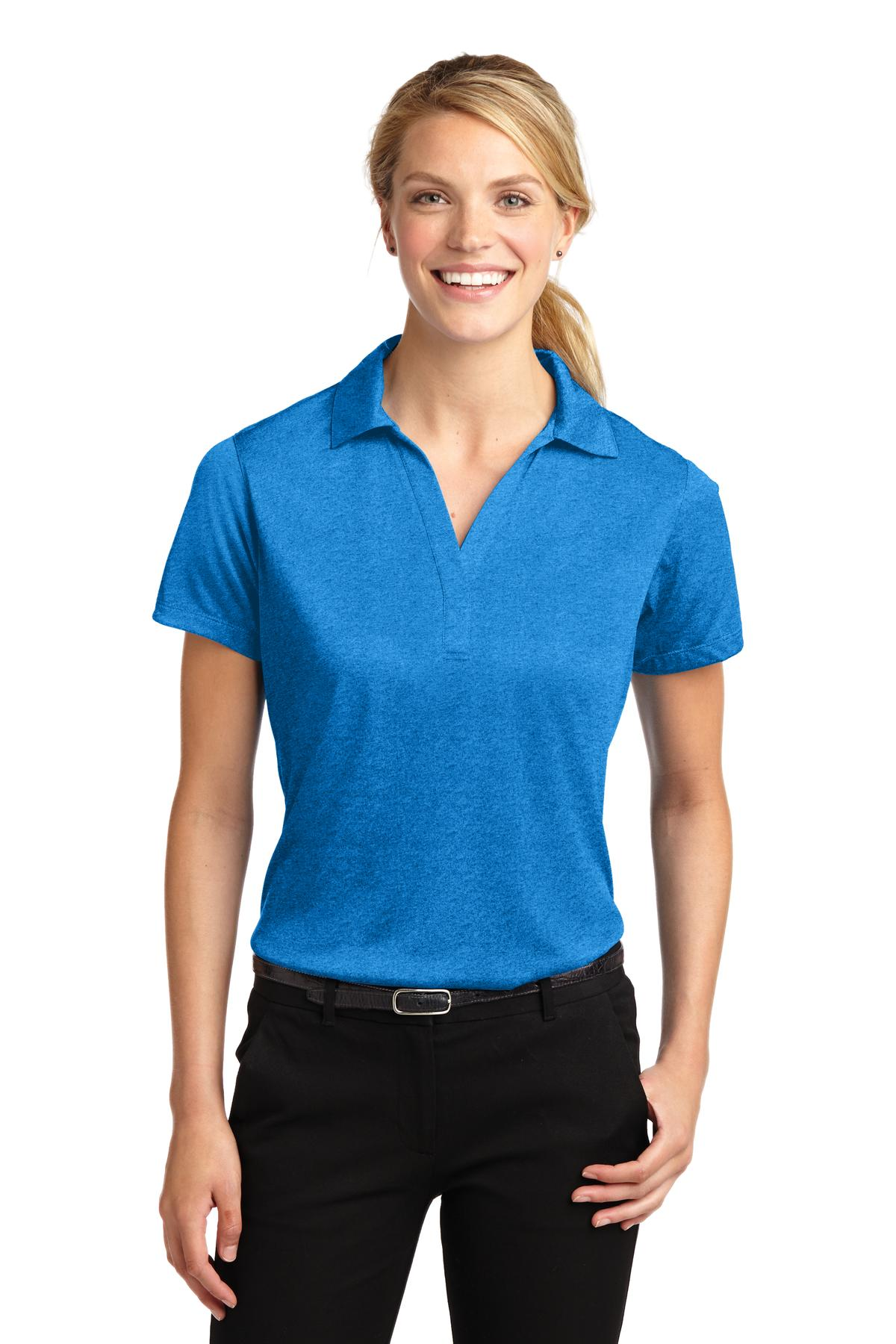 Sport-Tek ®  Ladies Heather Contender™ Polo. LST660 - Blue Wake Heather