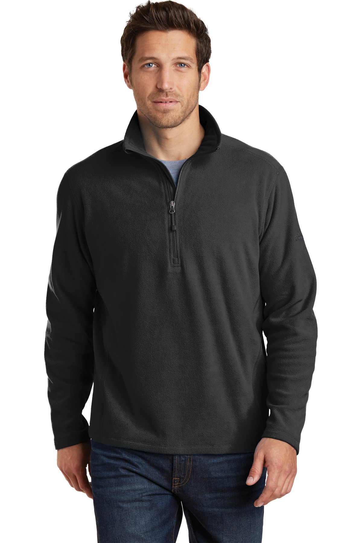 Eddie Bauer ® 1/2-Zip Microfleece Jacket. EB226 - Black