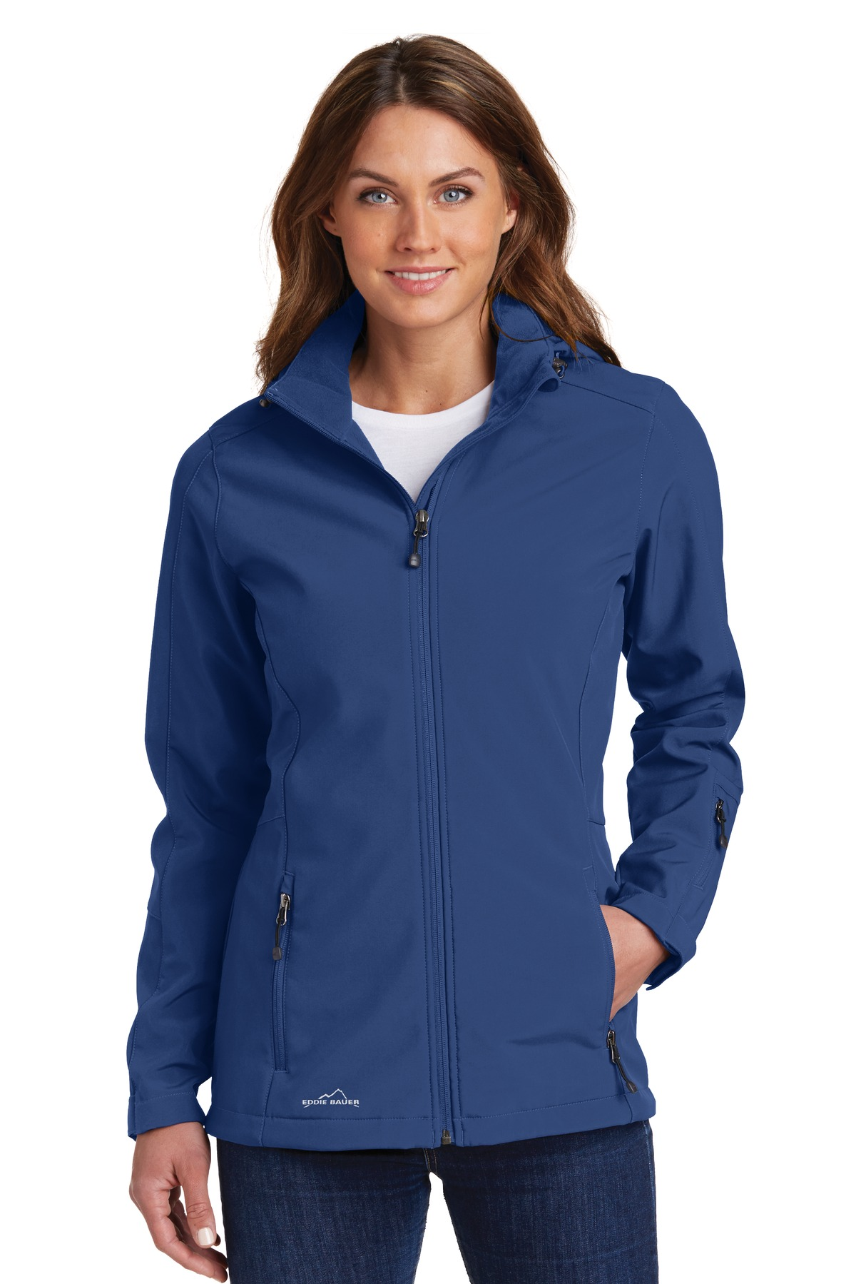 Eddie Bauer ®  Ladies Hooded Soft Shell Parka. EB537 - Admiral Blue