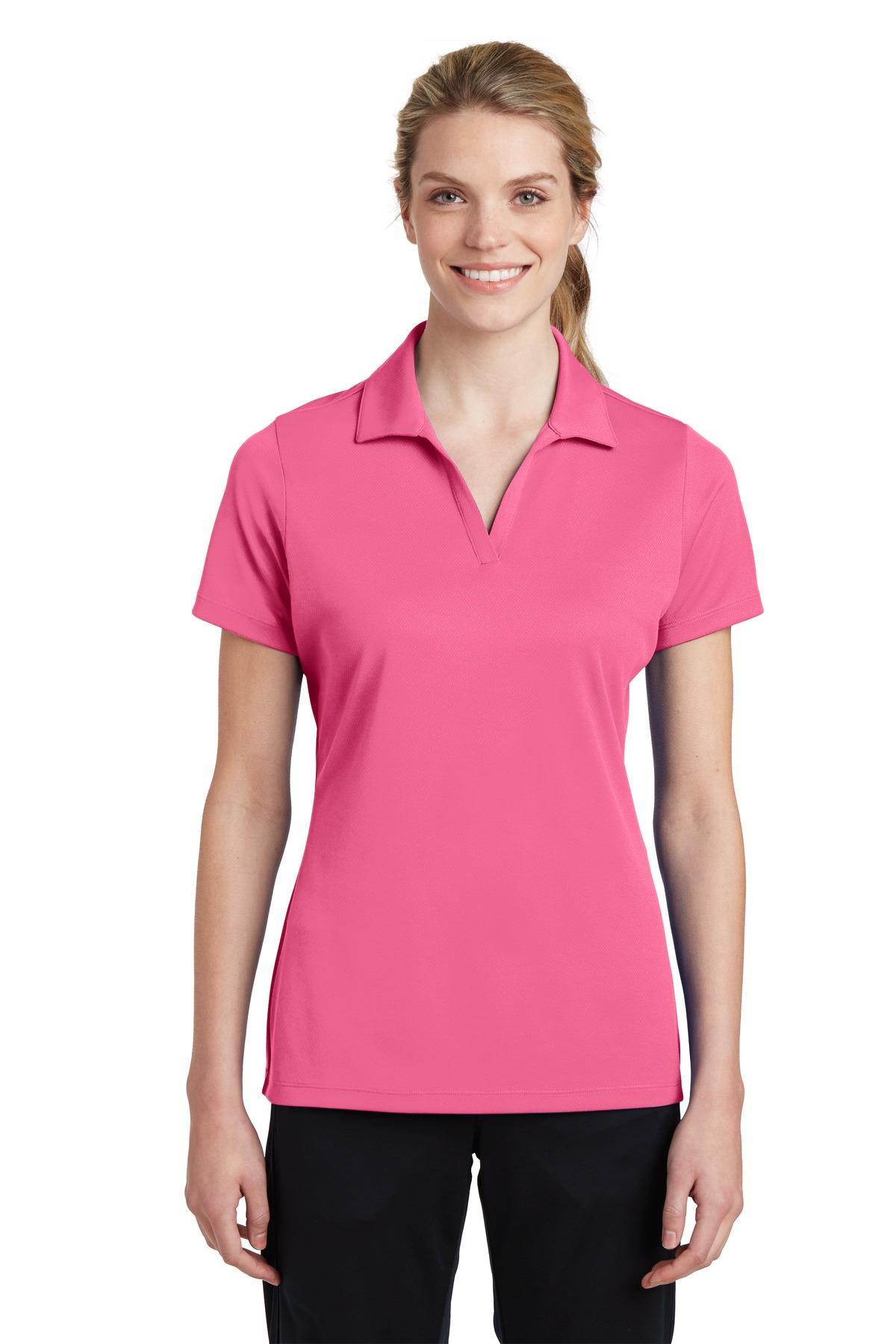 Sport-Tek ®  Ladies PosiCharge ®  RacerMesh ®  Polo. LST640 - Bright Pink