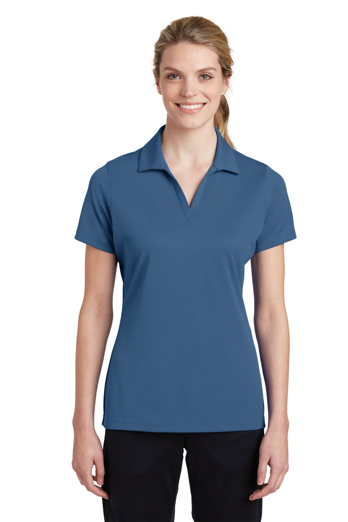 Sport-Tek ®  Ladies PosiCharge ®  RacerMesh ®  Polo. LST640 - Dawn Blue