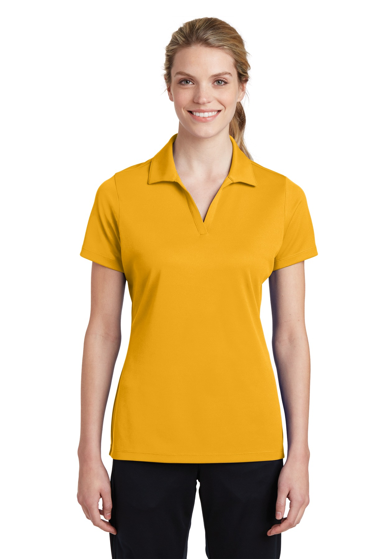 Sport-Tek ®  Ladies PosiCharge ®  RacerMesh ®  Polo. LST640 - Gold