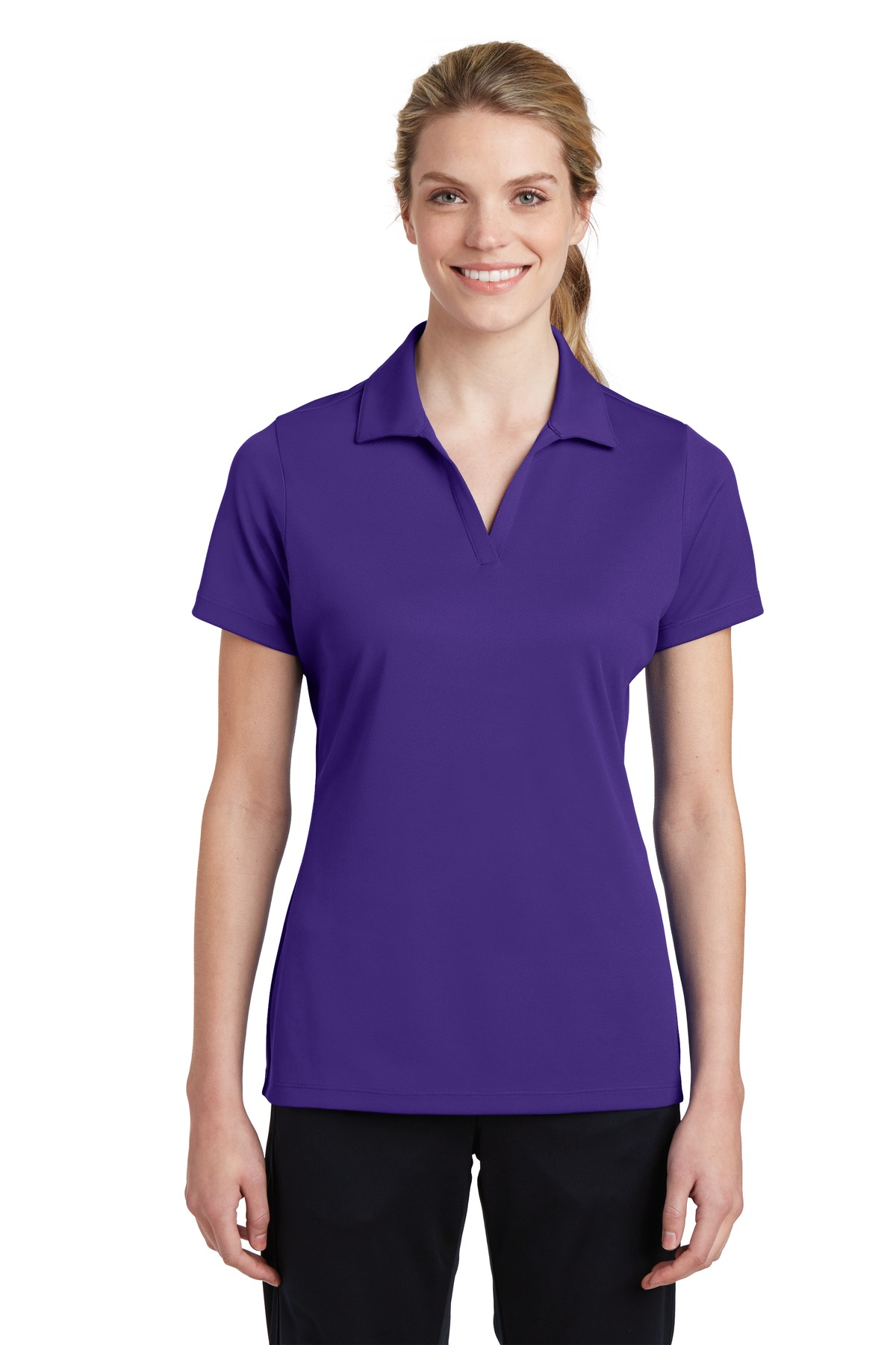 Sport-Tek ®  Ladies PosiCharge ®  RacerMesh ®  Polo. LST640 - Purple