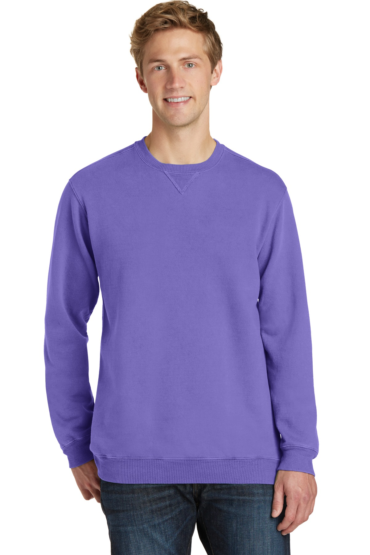 Port & Company ®  Beach Wash ™  Garment-Dyed Sweatshirt PC098 - Amethyst