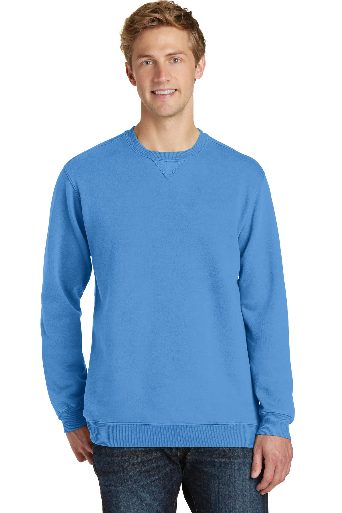 Port & Company ®  Beach Wash ™  Garment-Dyed Sweatshirt PC098 - Blue Moon