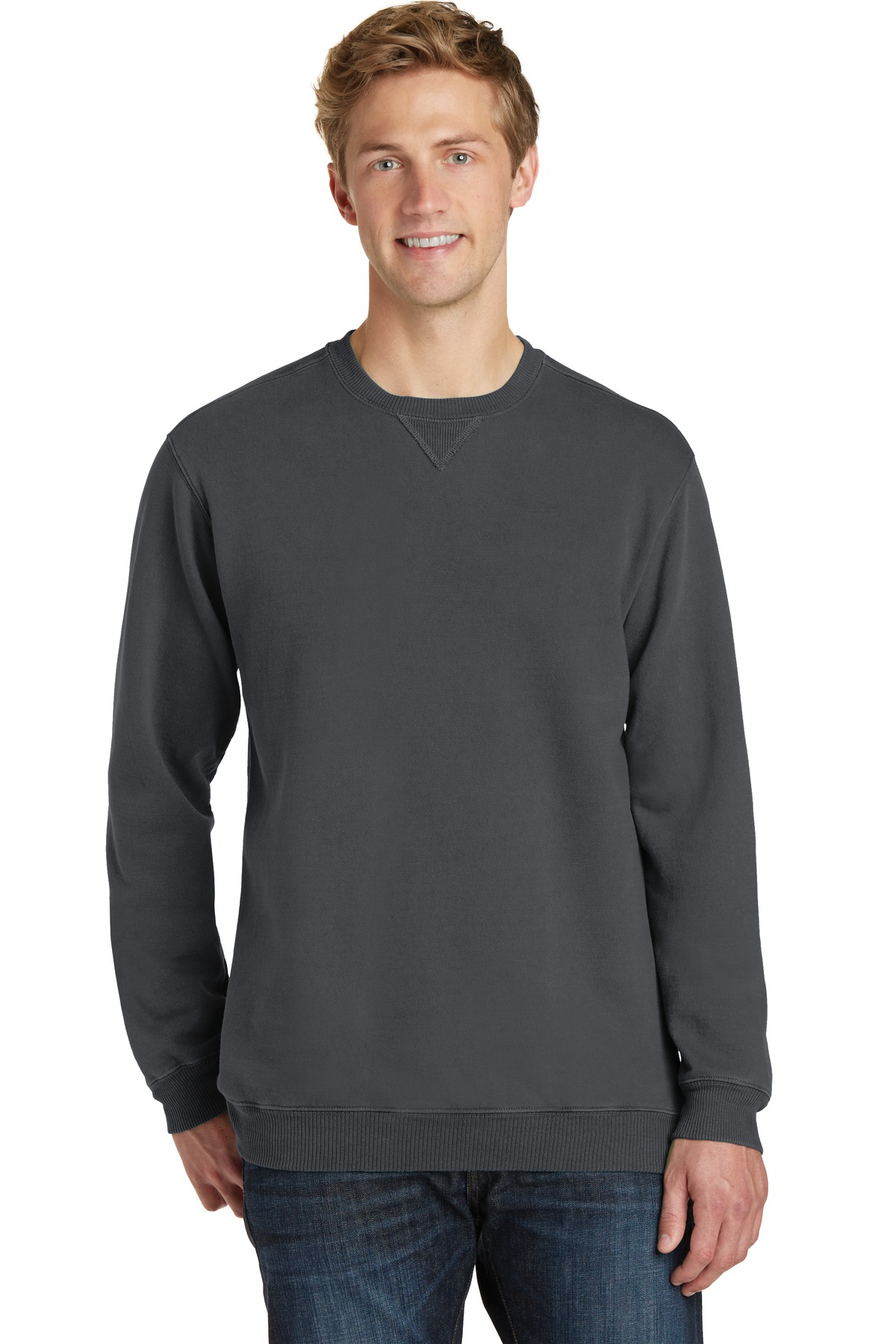 Port & Company ®  Beach Wash ™  Garment-Dyed Sweatshirt PC098 - Coal