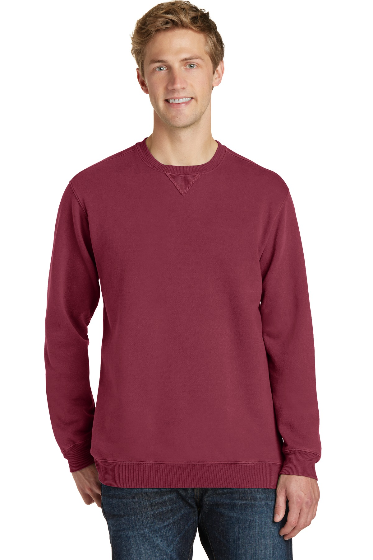 Port & Company ®  Beach Wash ™  Garment-Dyed Sweatshirt PC098 - Merlot