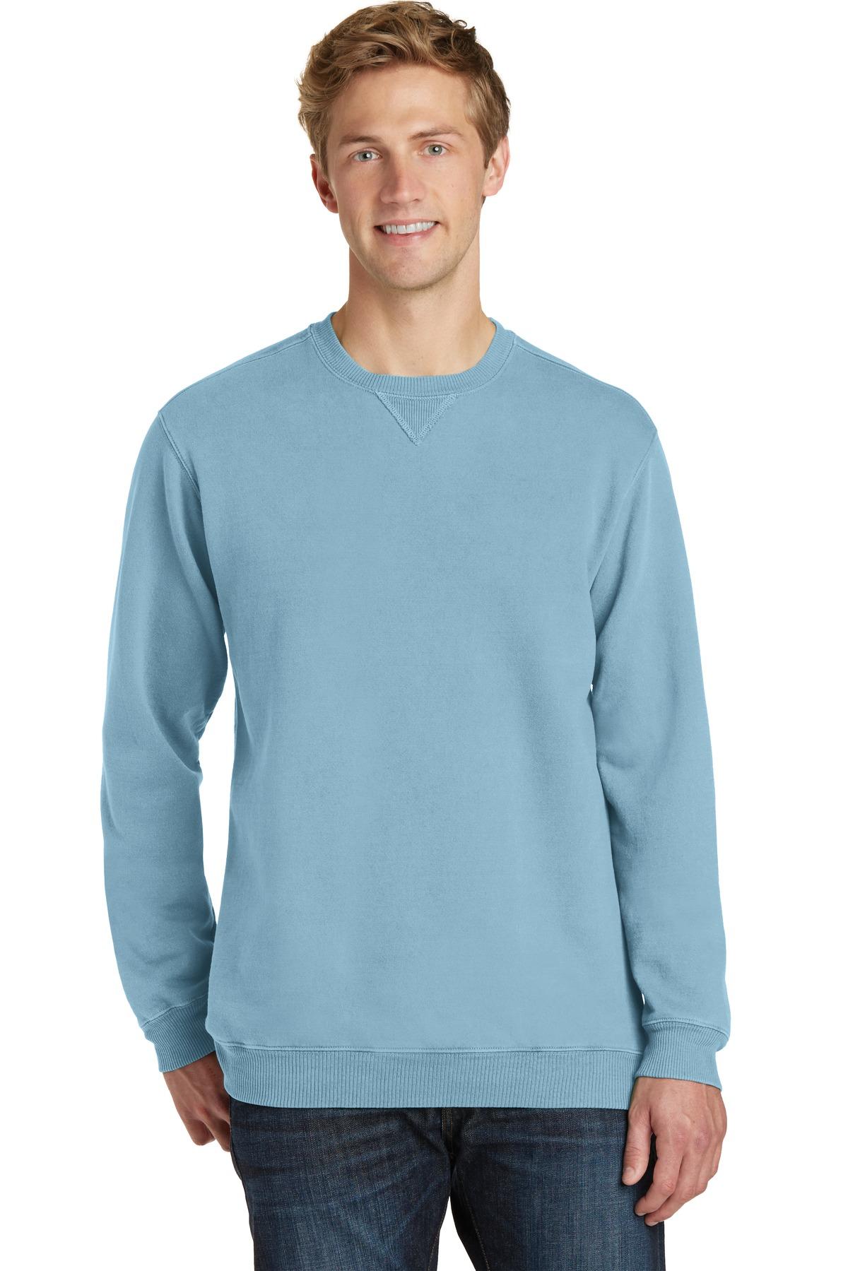 Port & Company ®  Beach Wash ™  Garment-Dyed Sweatshirt PC098 - Mist