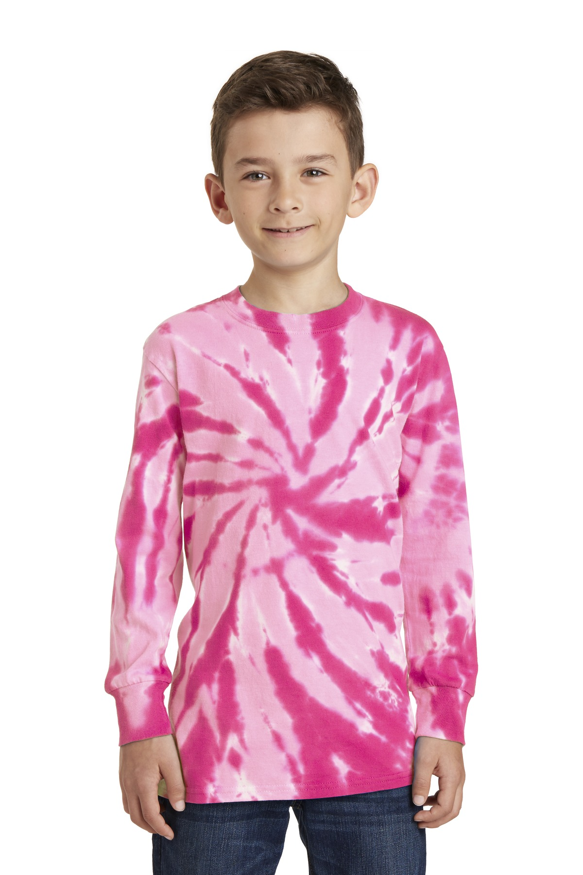 DISCONTINUED Port & Company Youth Tie-Dye Long Sleeve Tee.  PC147YLS