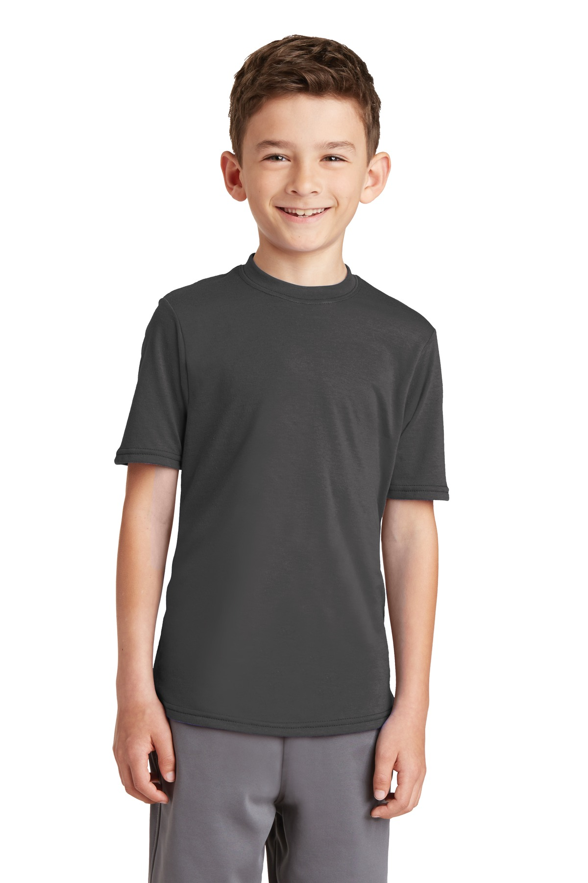 Port & Company ®  Youth Performance Blend Tee. PC381Y - Charcoal