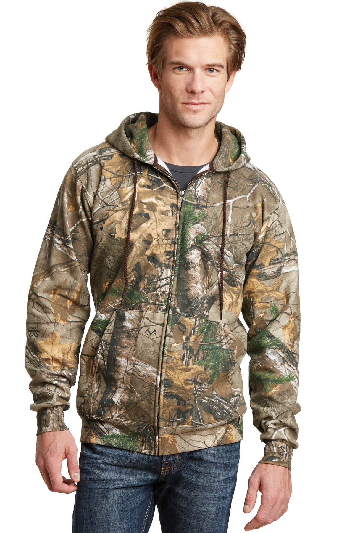 Russell Outdoors ™  Realtree ®  Full-Zip Hooded Sweatshirt. RO78ZH - Realtree Xtra