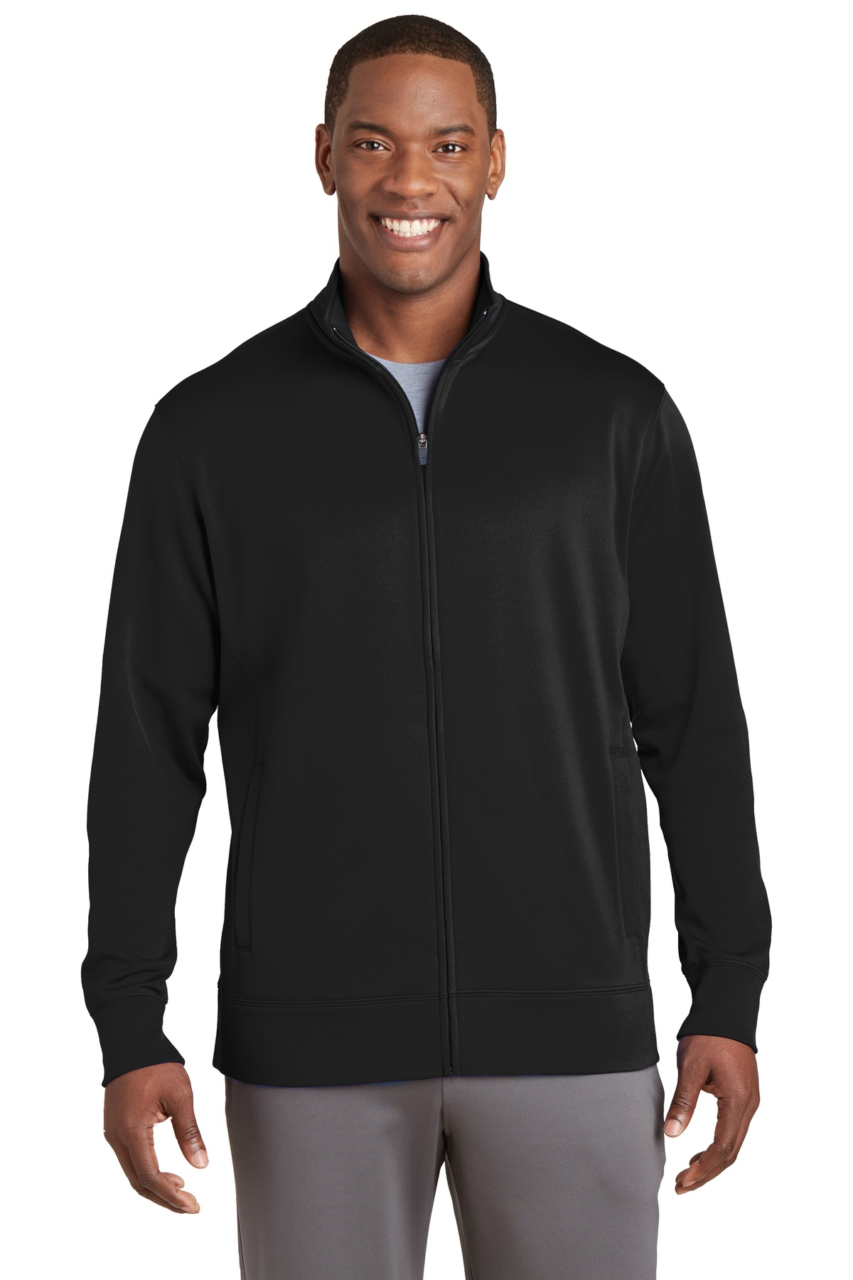 Sport-Tek ®  Sport-Wick ®  Fleece Full-Zip Jacket.  ST241 - Black