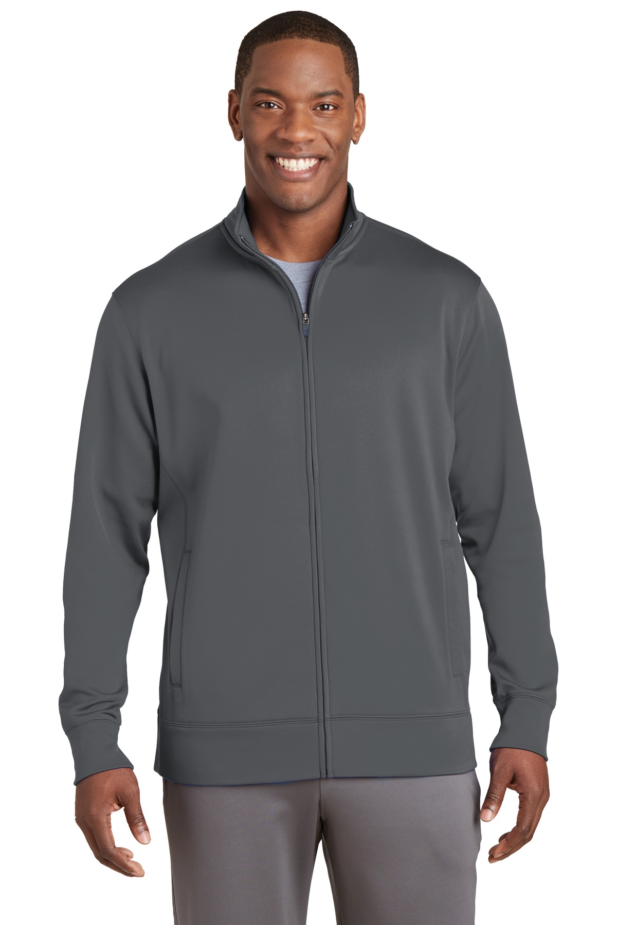 Sport-Tek ®  Sport-Wick ®  Fleece Full-Zip Jacket.  ST241 - Dark Smoke Grey