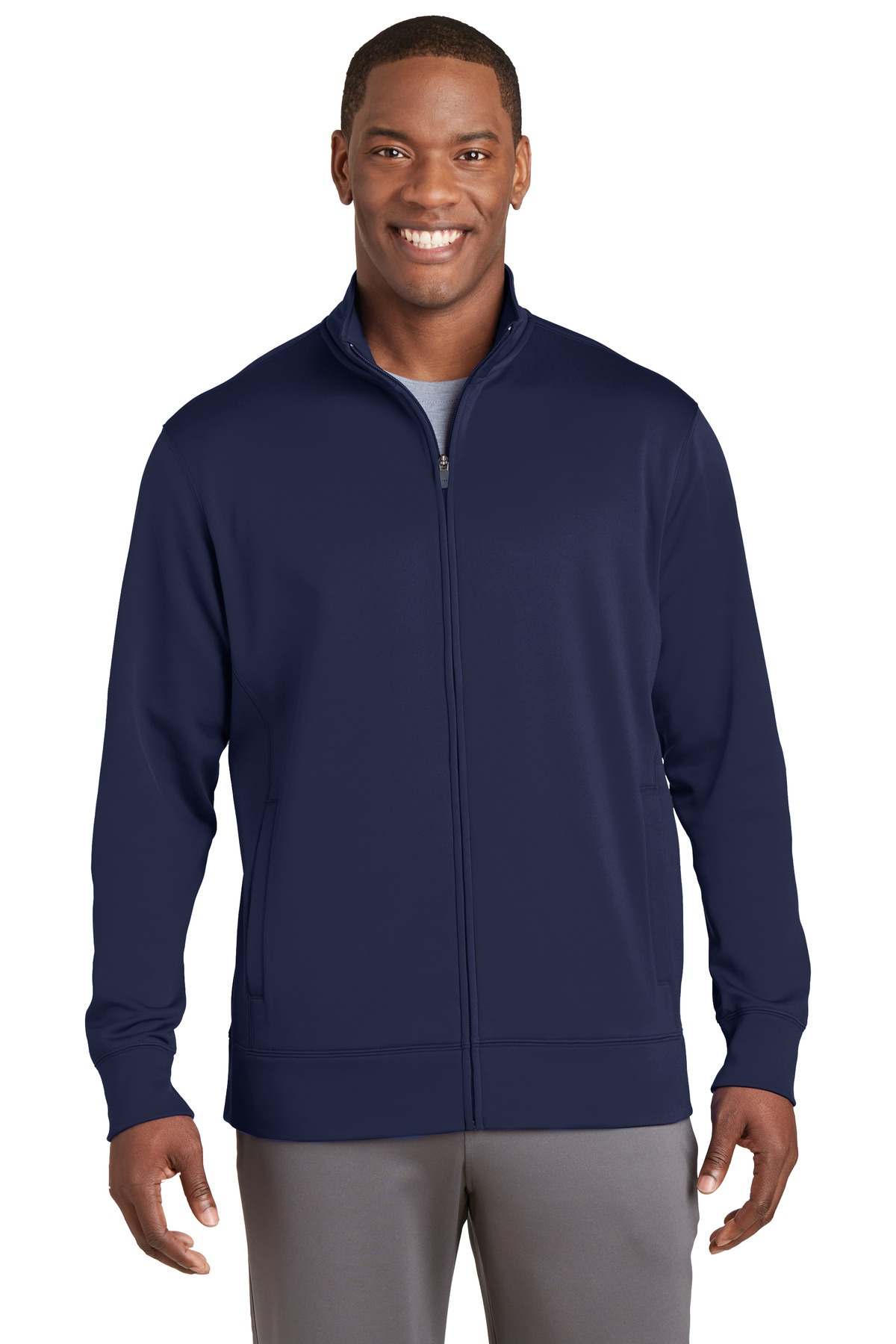 Sport-Tek ®  Sport-Wick ®  Fleece Full-Zip Jacket.  ST241 - Navy
