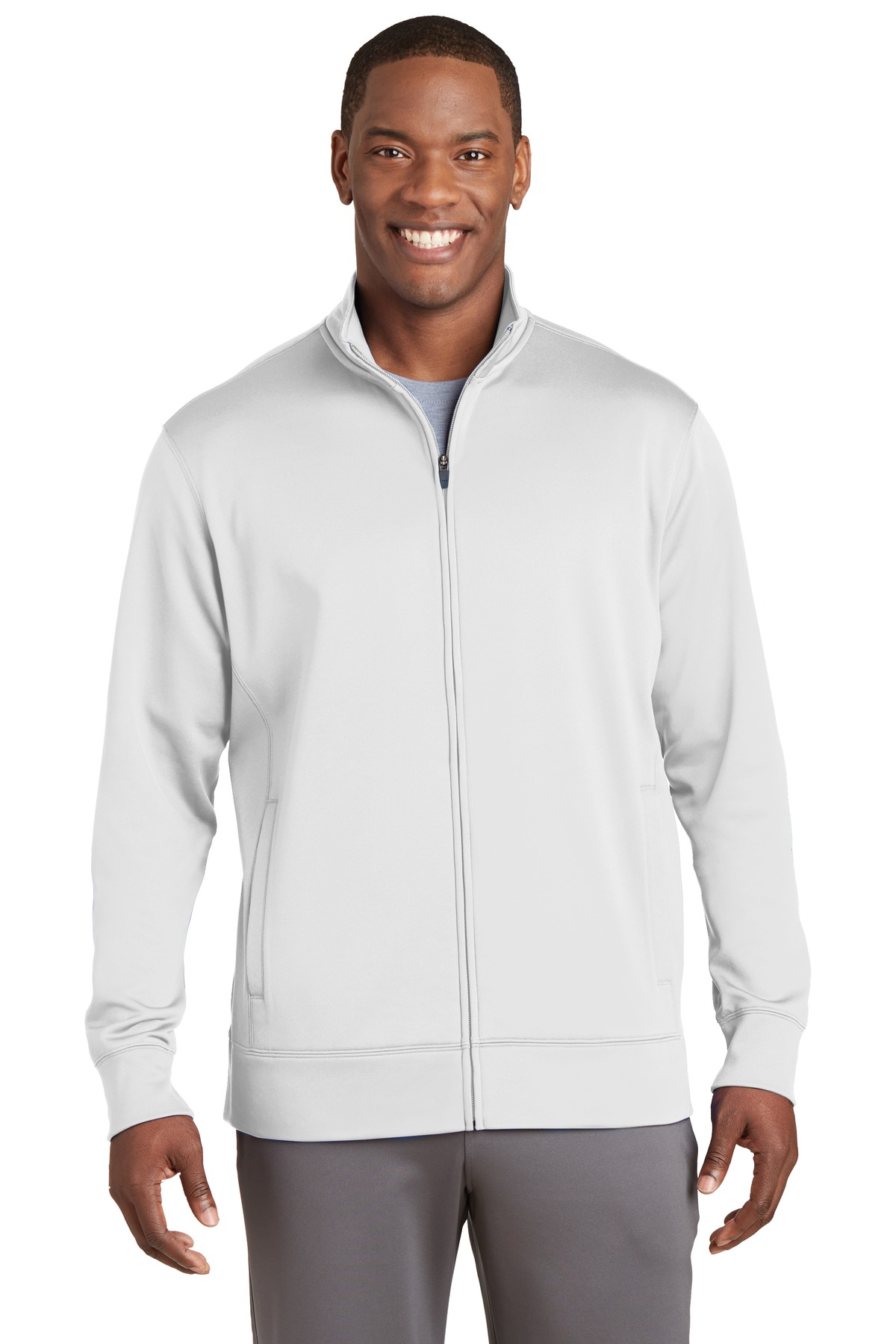 Sport-Tek ®  Sport-Wick ®  Fleece Full-Zip Jacket.  ST241 - White