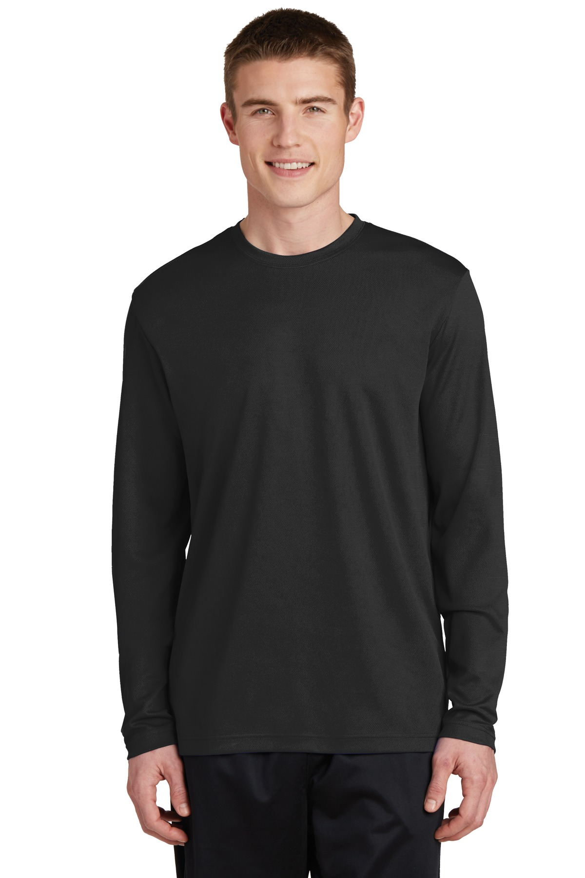 Sport-Tek ®  PosiCharge ®  RacerMesh ®  Long Sleeve Tee. ST340LS - Black