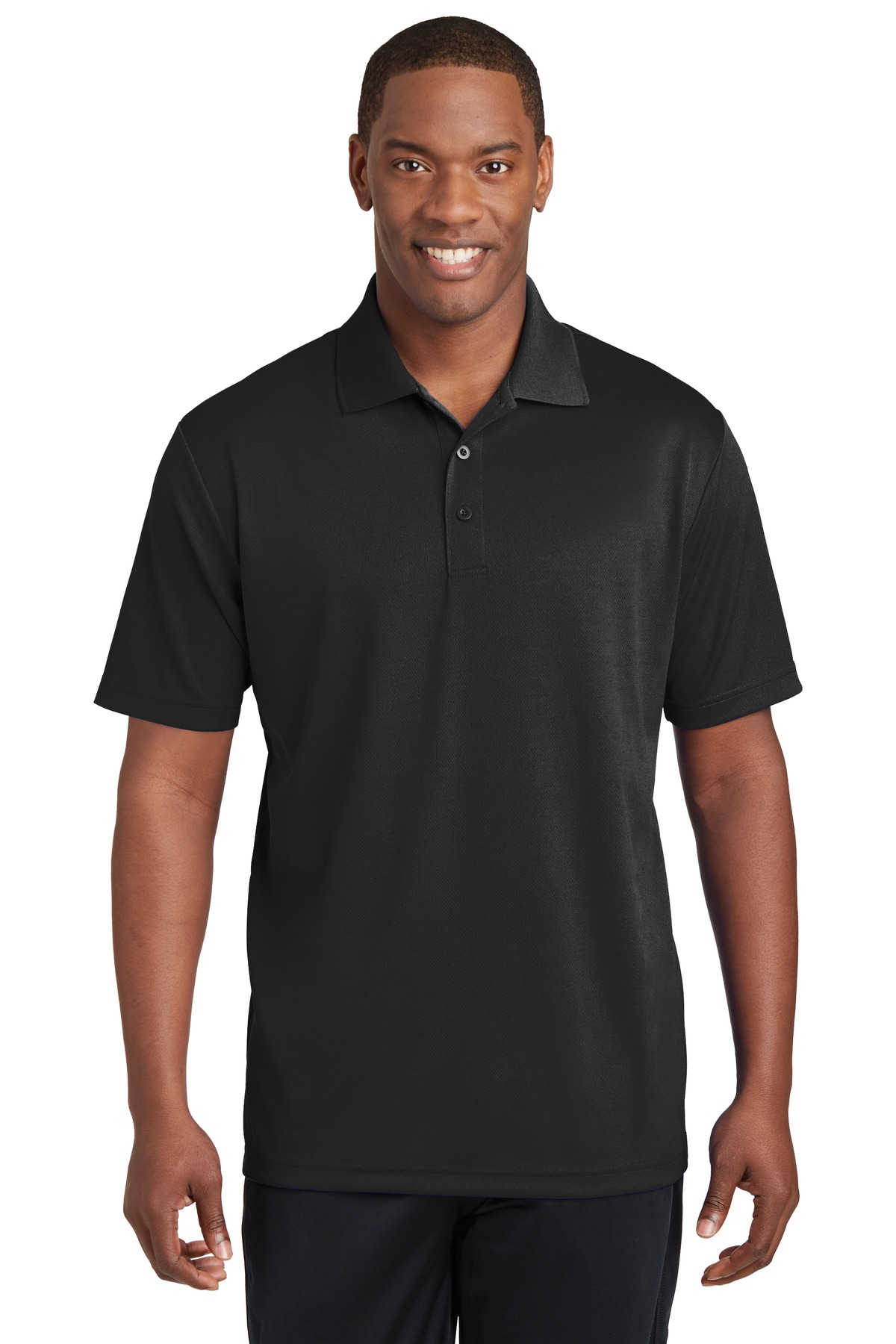 Sport-Tek ®  PosiCharge ®  RacerMesh ®  Polo. ST640 - Black