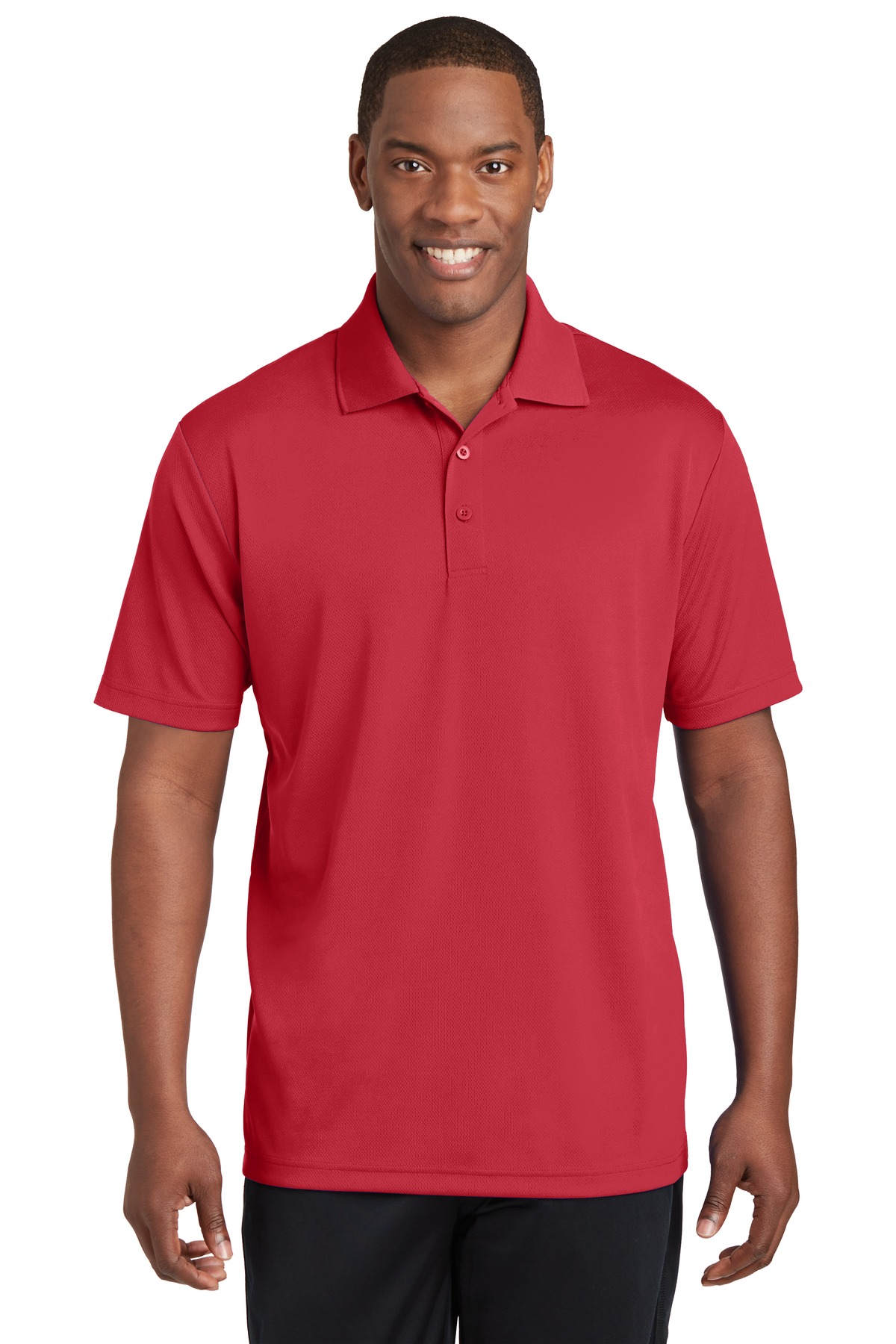 Sport-Tek ®  PosiCharge ®  RacerMesh ®  Polo. ST640 - True Red