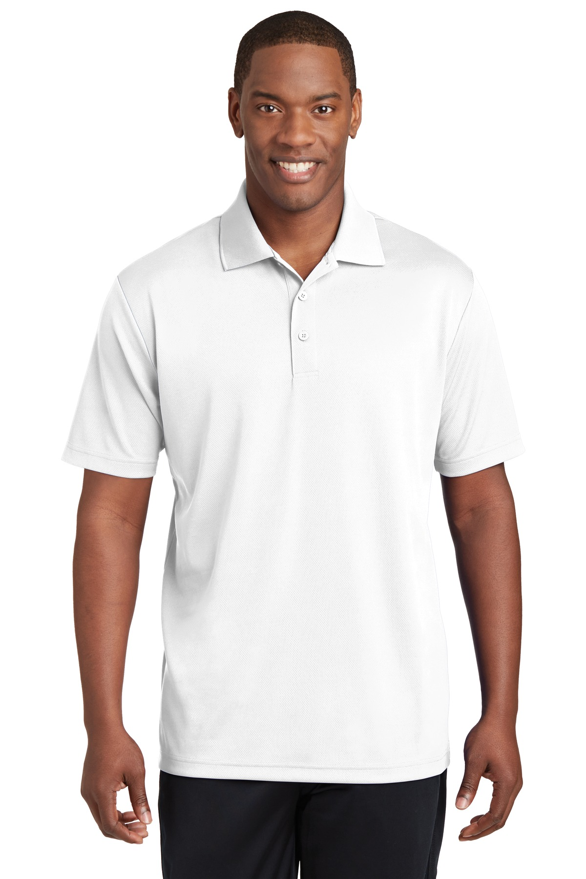 Sport-Tek ®  PosiCharge ®  RacerMesh ®  Polo. ST640 - White