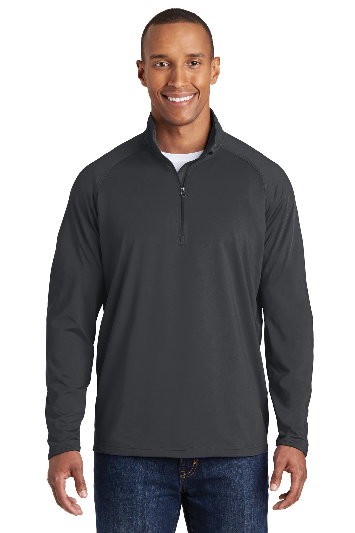 Sport-Tek ®  Sport-Wick ®  Stretch 1/2-Zip Pullover. ST850 - Charcoal Grey