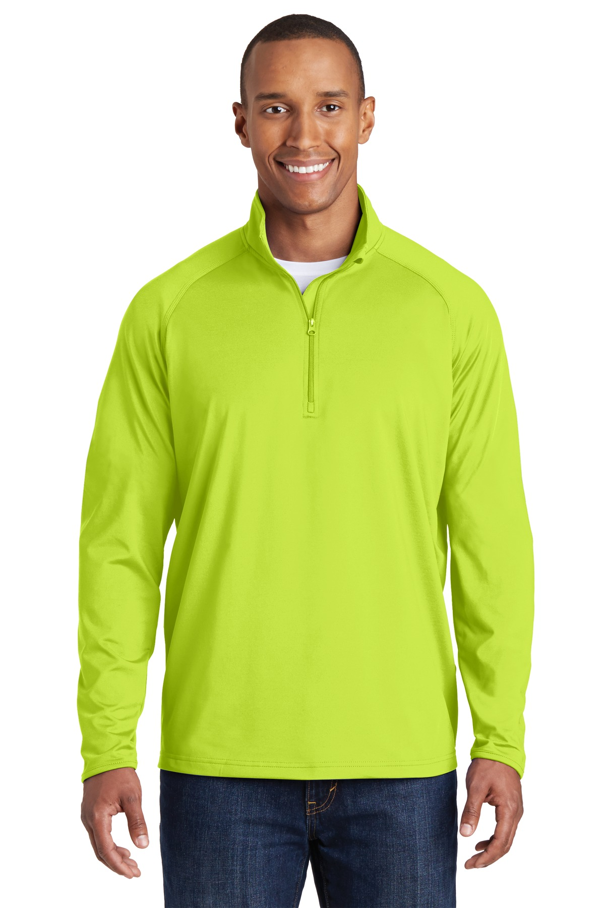 Sport-Tek ®  Sport-Wick ®  Stretch 1/2-Zip Pullover. ST850 - Charge Green