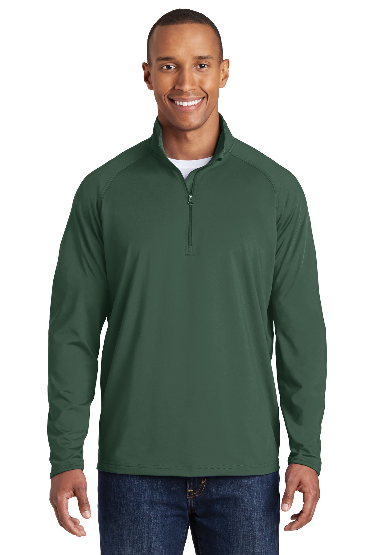 Sport-Tek ®  Sport-Wick ®  Stretch 1/2-Zip Pullover. ST850 - Forest Green