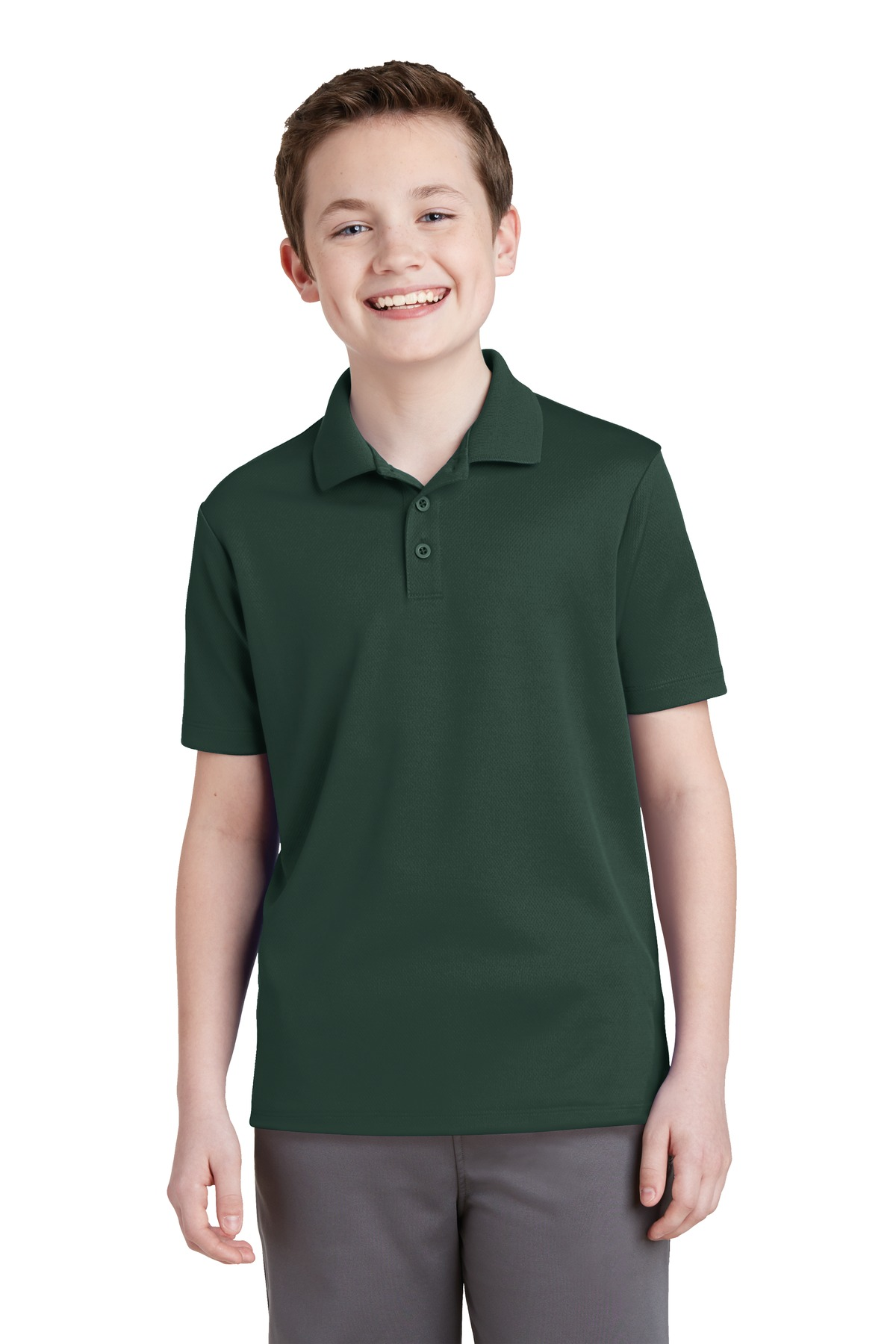 Sport-Tek ®  Youth PosiCharge ®  RacerMesh ®  Polo. YST640 - Dark Forest Green