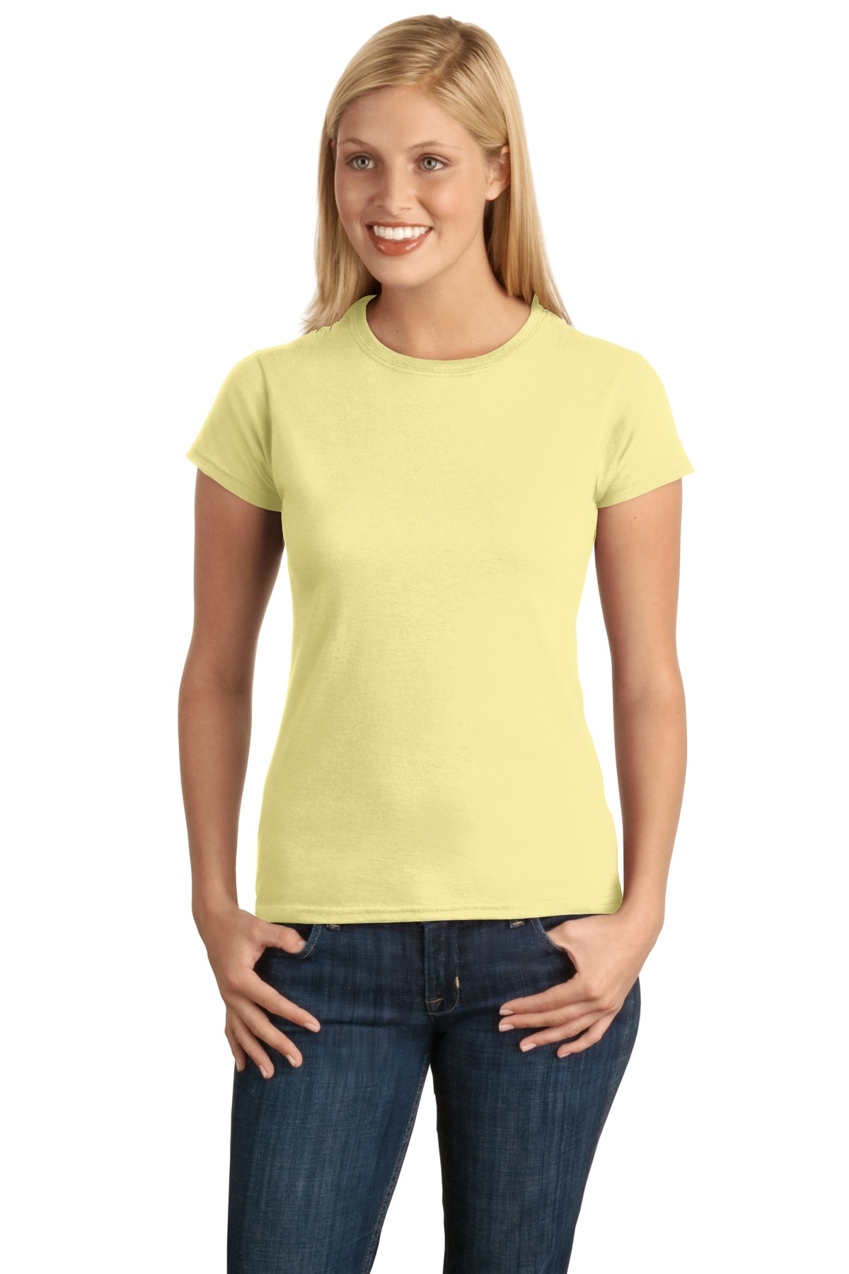 Gildan Softstyle ®  Ladies T-Shirt. 64000L - Corn Silk