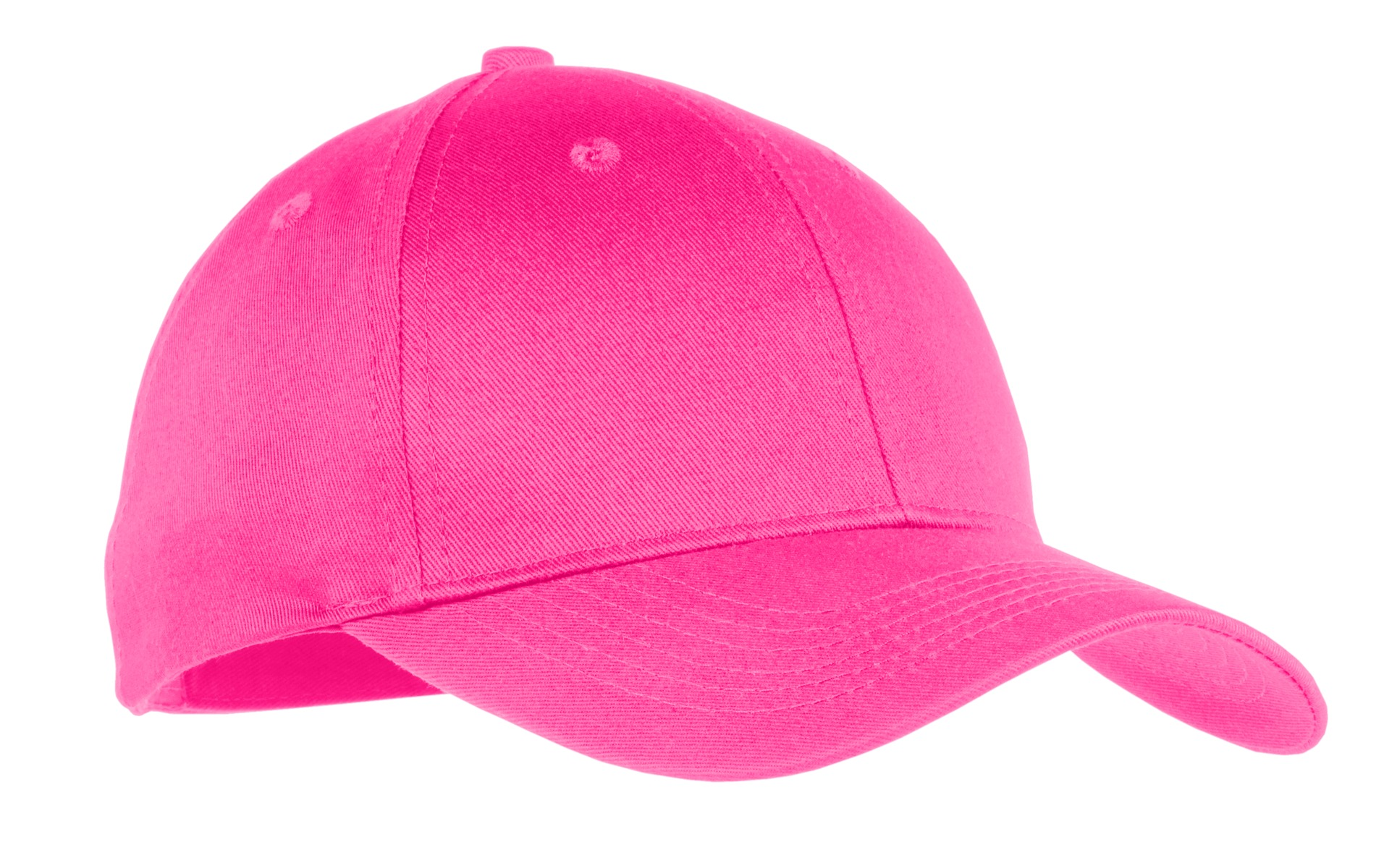 Port & Company ® Youth Six-Panel Twill Cap.  YCP80 - Neon Pink