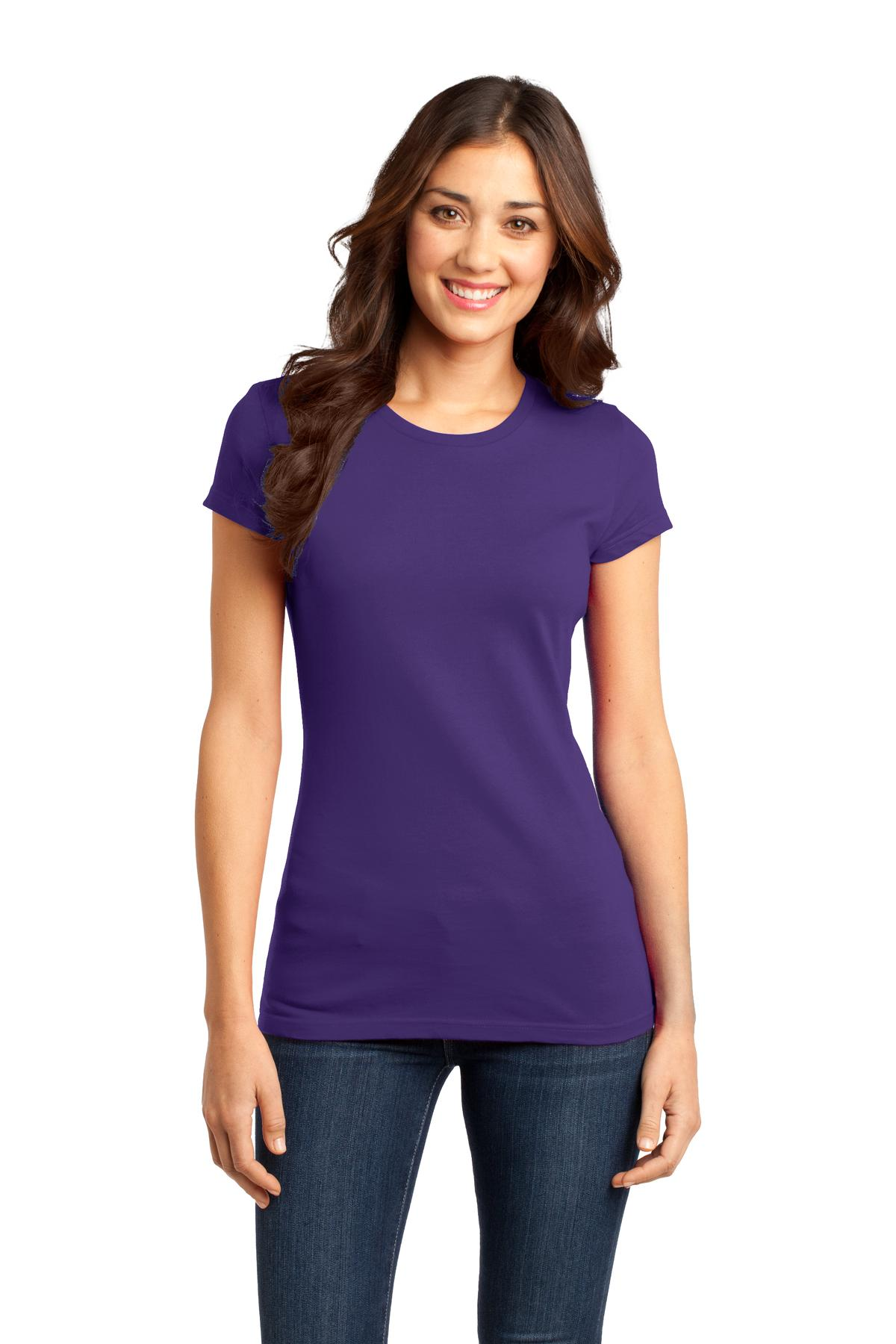District ®  Women's Fitted Very Important Tee ® . DT6001 - Purple
