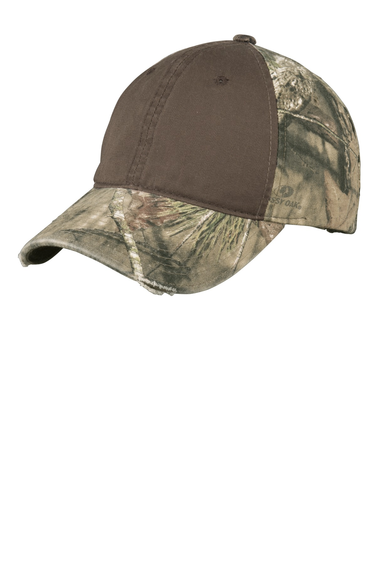 Port Authority ®  Camo Cap with Contrast Front Panel. C807 - Mossy Oak Break-Up Country/ Chocolate