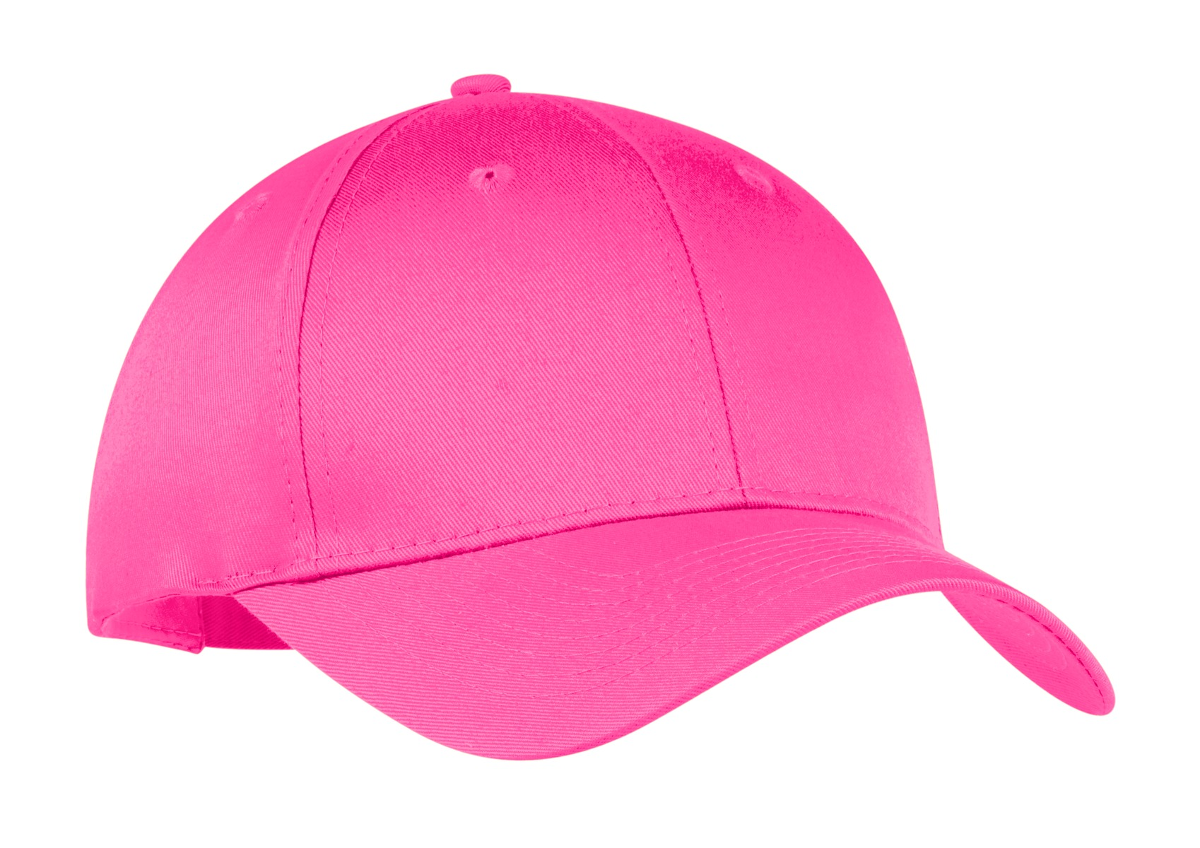 Port & Company ® Six-Panel Twill Cap.  CP80 - Neon Pink