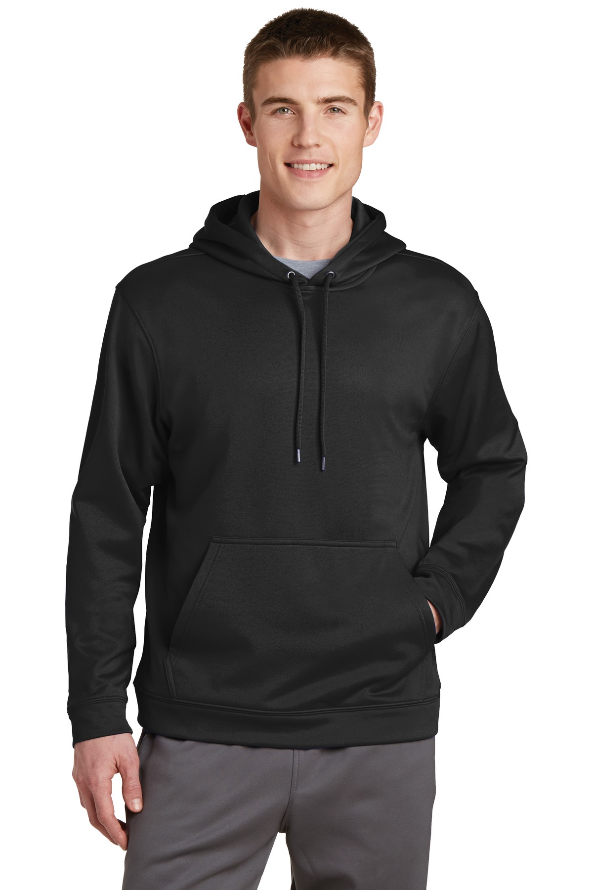 Sport-Tek ®  Sport-Wick ®  Fleece Hooded Pullover.  F244 - Black