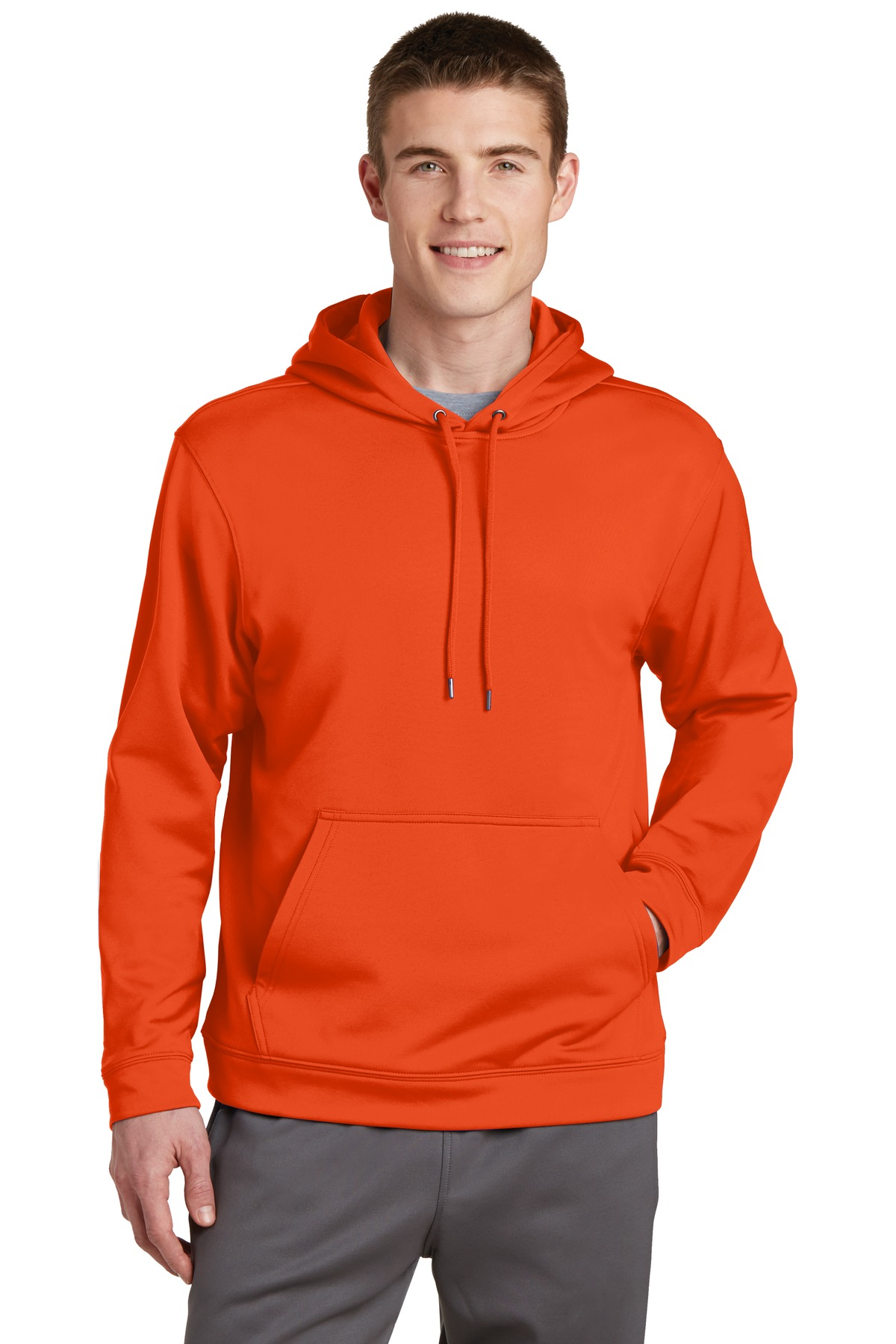 Sport-Tek ®  Sport-Wick ®  Fleece Hooded Pullover.  F244 - Deep Orange