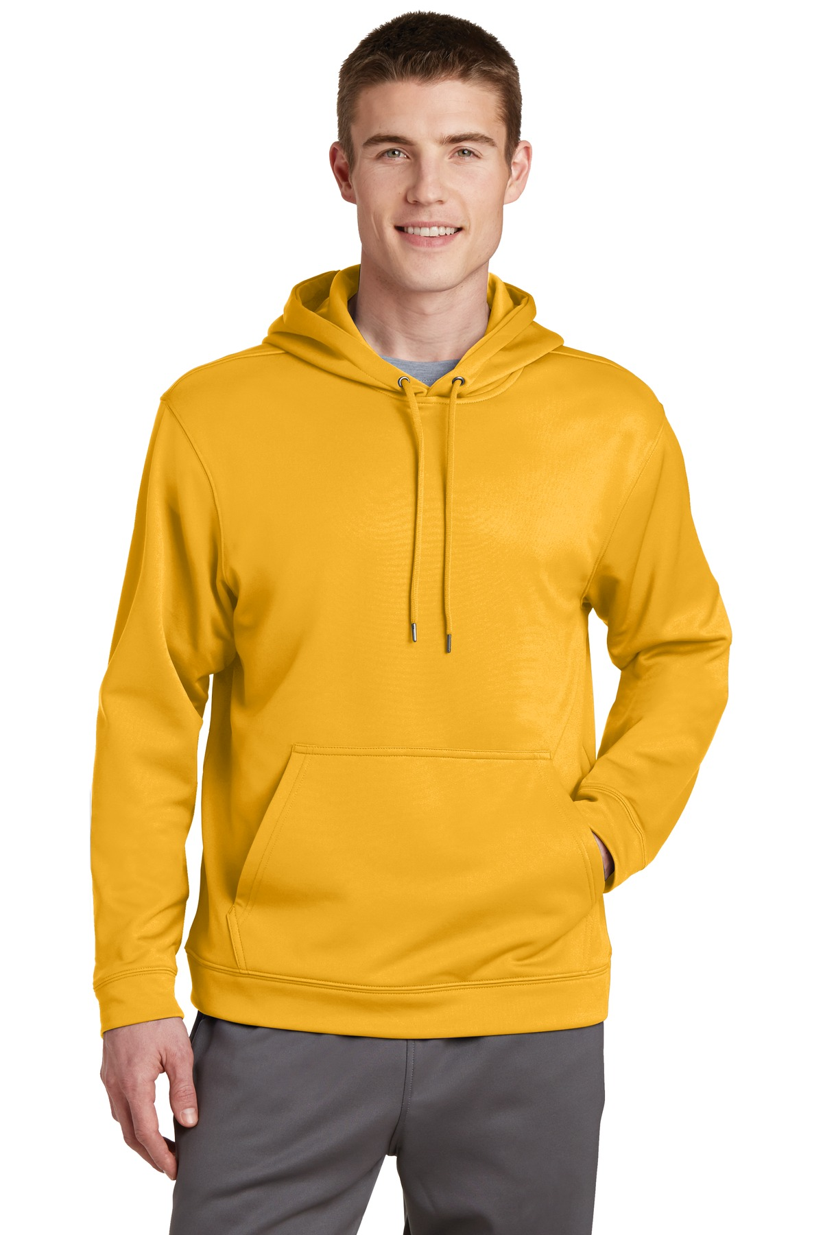Sport-Tek ®  Sport-Wick ®  Fleece Hooded Pullover.  F244 - Gold