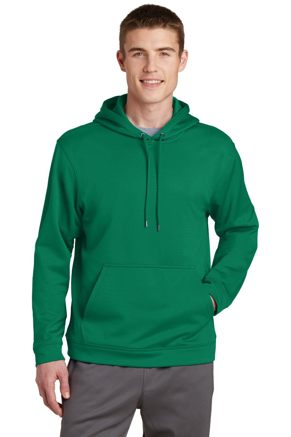 Sport-Tek ®  Sport-Wick ®  Fleece Hooded Pullover.  F244 - Kelly Green