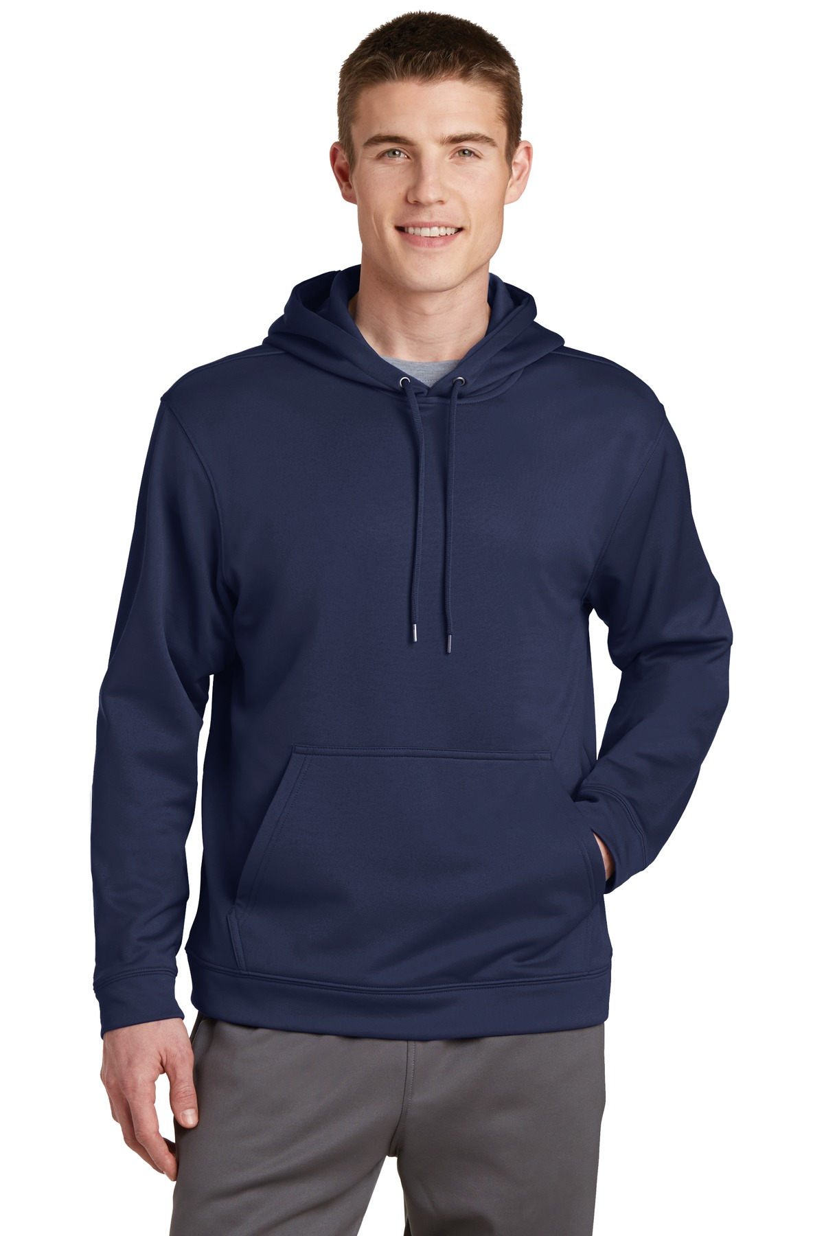 Sport-Tek ®  Sport-Wick ®  Fleece Hooded Pullover.  F244 - Navy