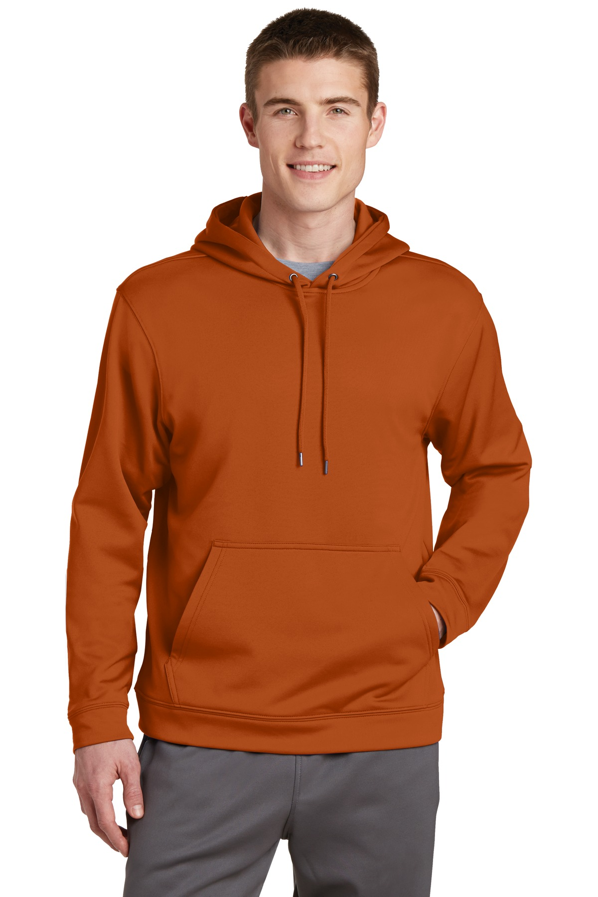 Sport-Tek ®  Sport-Wick ®  Fleece Hooded Pullover.  F244 - Texas Orange