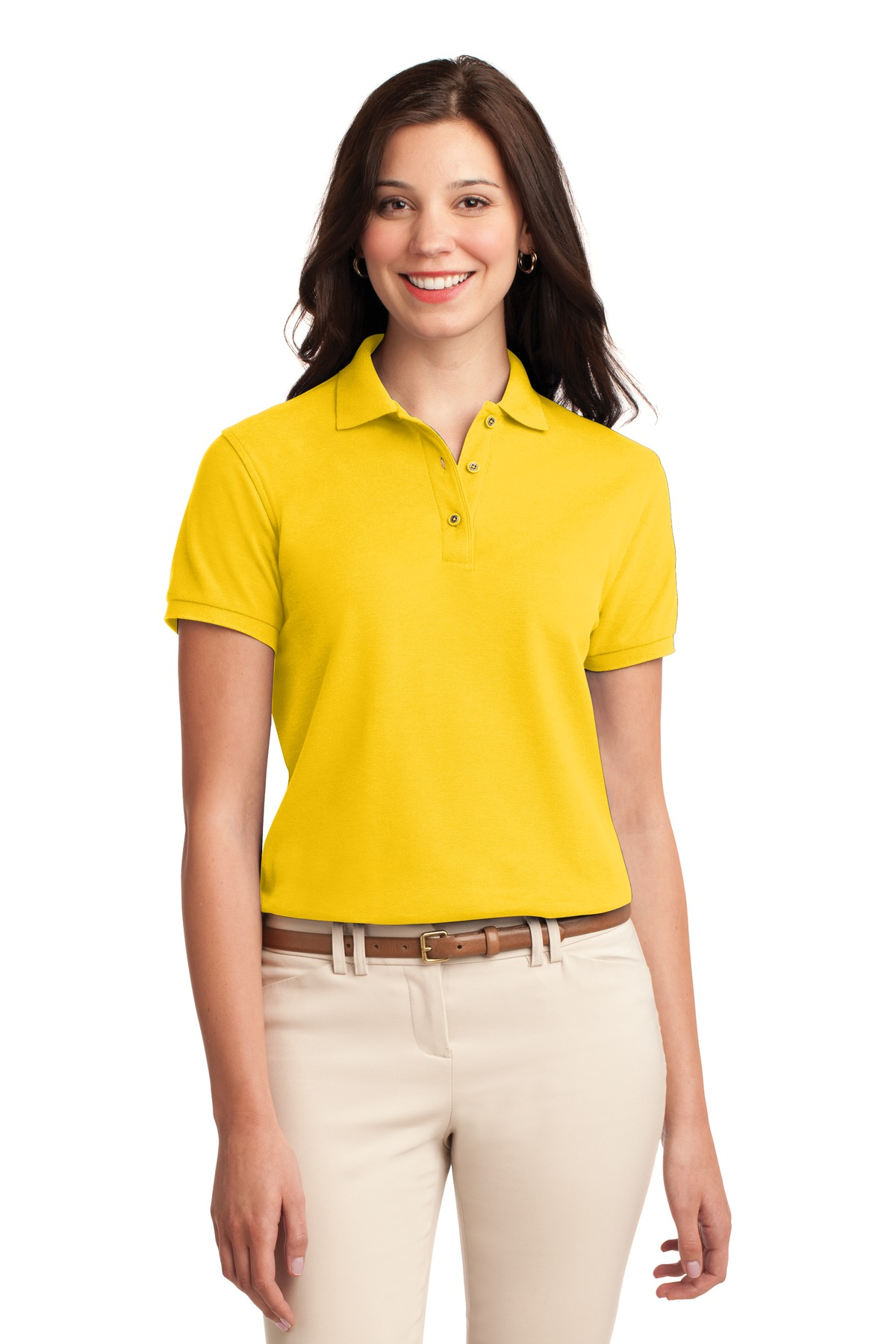 Port Authority ®  Ladies Silk Touch™ Polo.  L500 - Sunflower Yellow