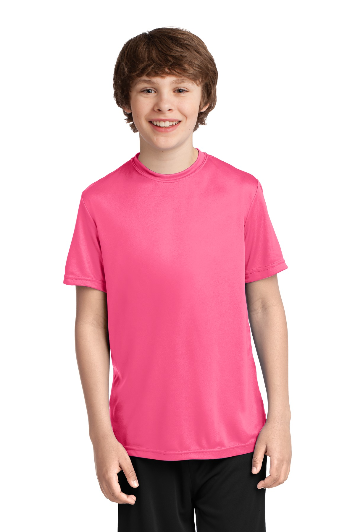 Port & Company ®  Youth Performance Tee. PC380Y - Neon Pink