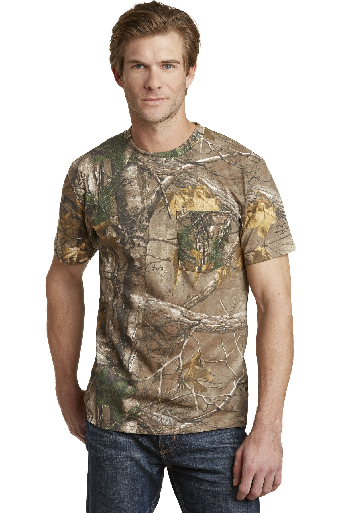 Russell Outdoors ™  - Realtree ®  Explorer 100% Cotton T-Shirt with Pocket. S021R - Realtree Xtra