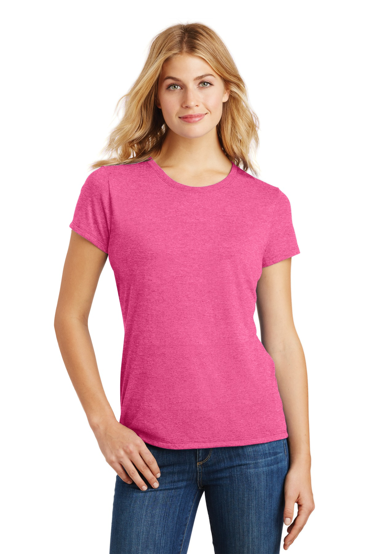 District  ®  Women's Perfect Tri ®  Tee. DM130L - Fuchsia Frost