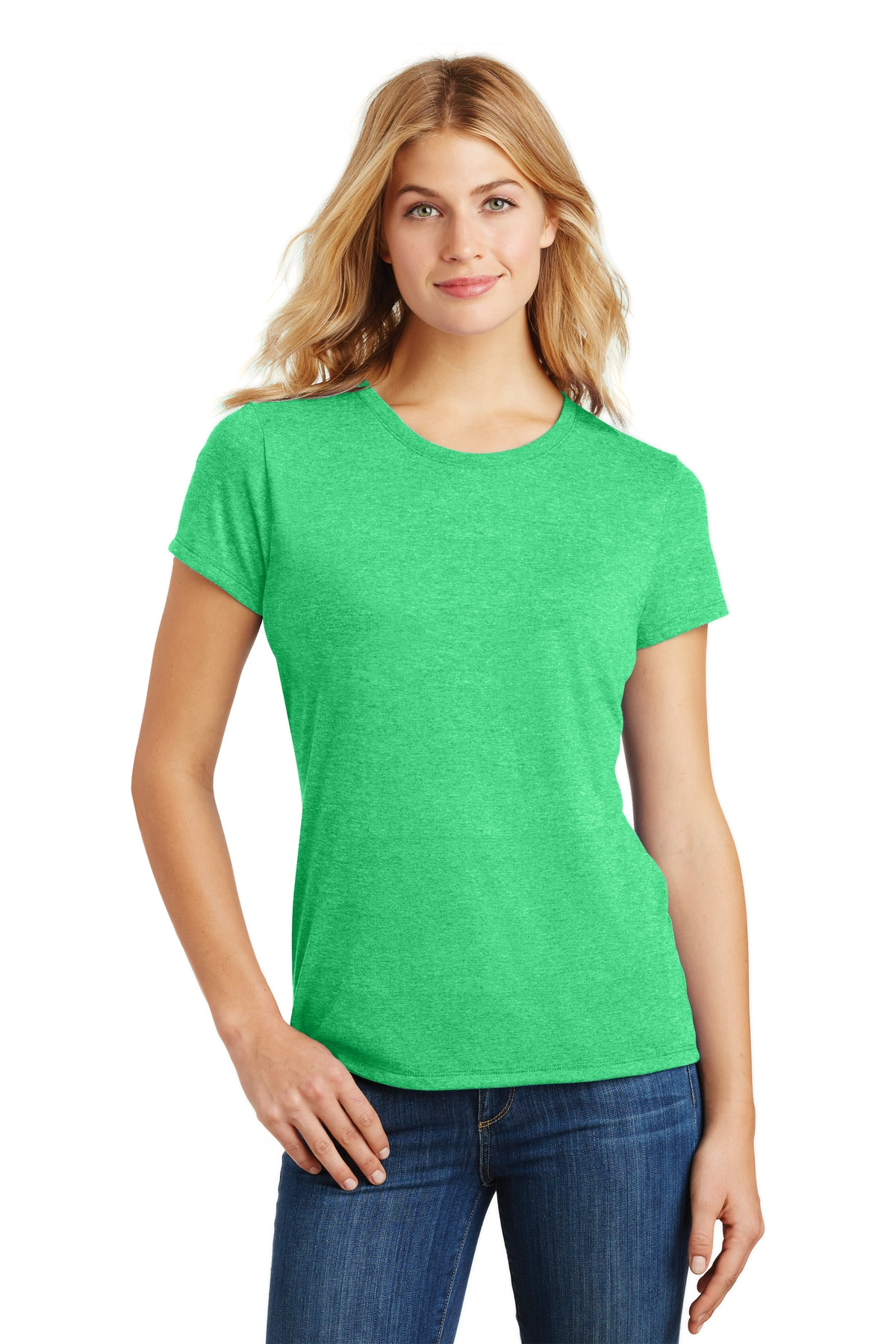District  ®  Women's Perfect Tri ®  Tee. DM130L - Green Frost