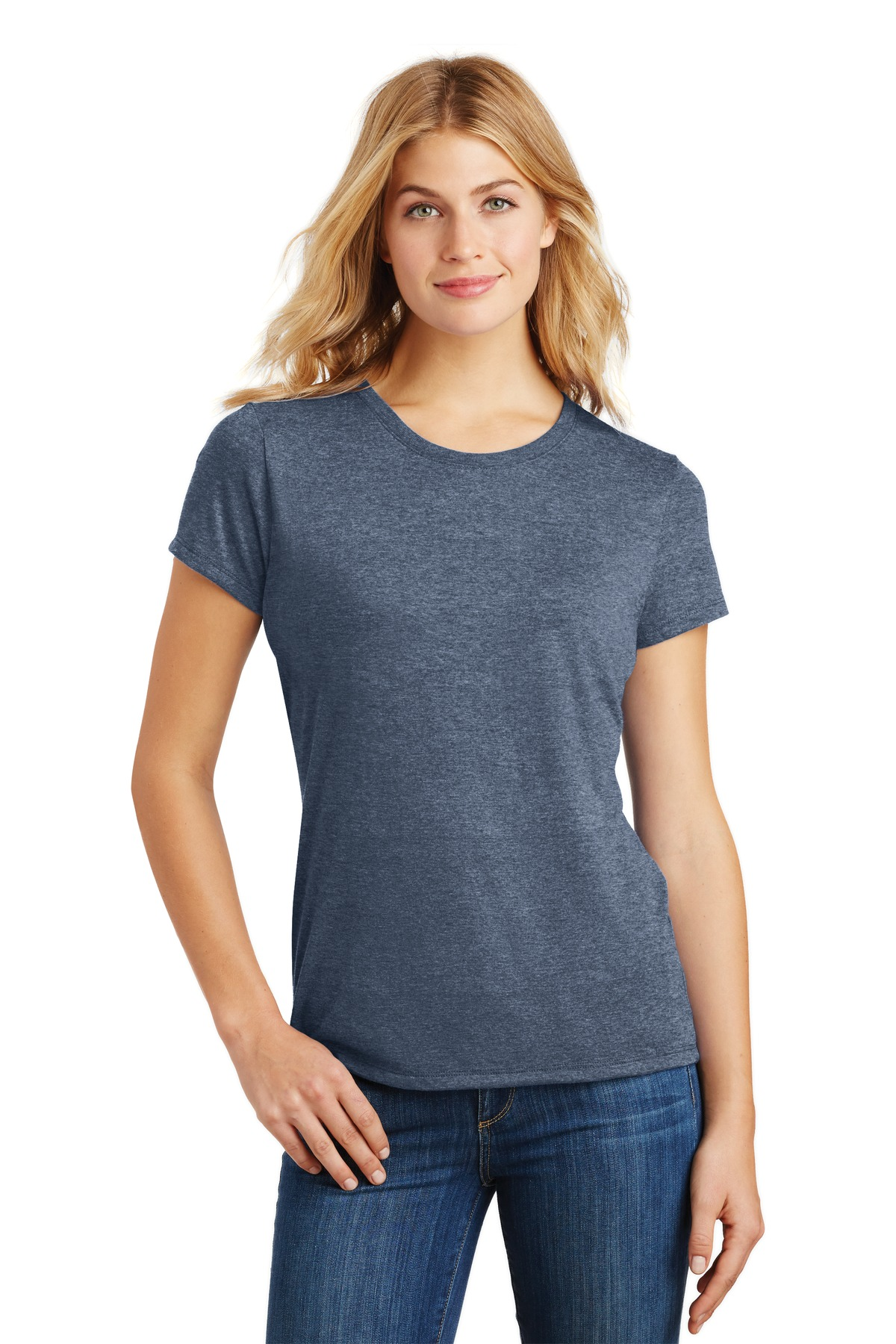 District  ®  Women's Perfect Tri ®  Tee. DM130L - Navy Frost